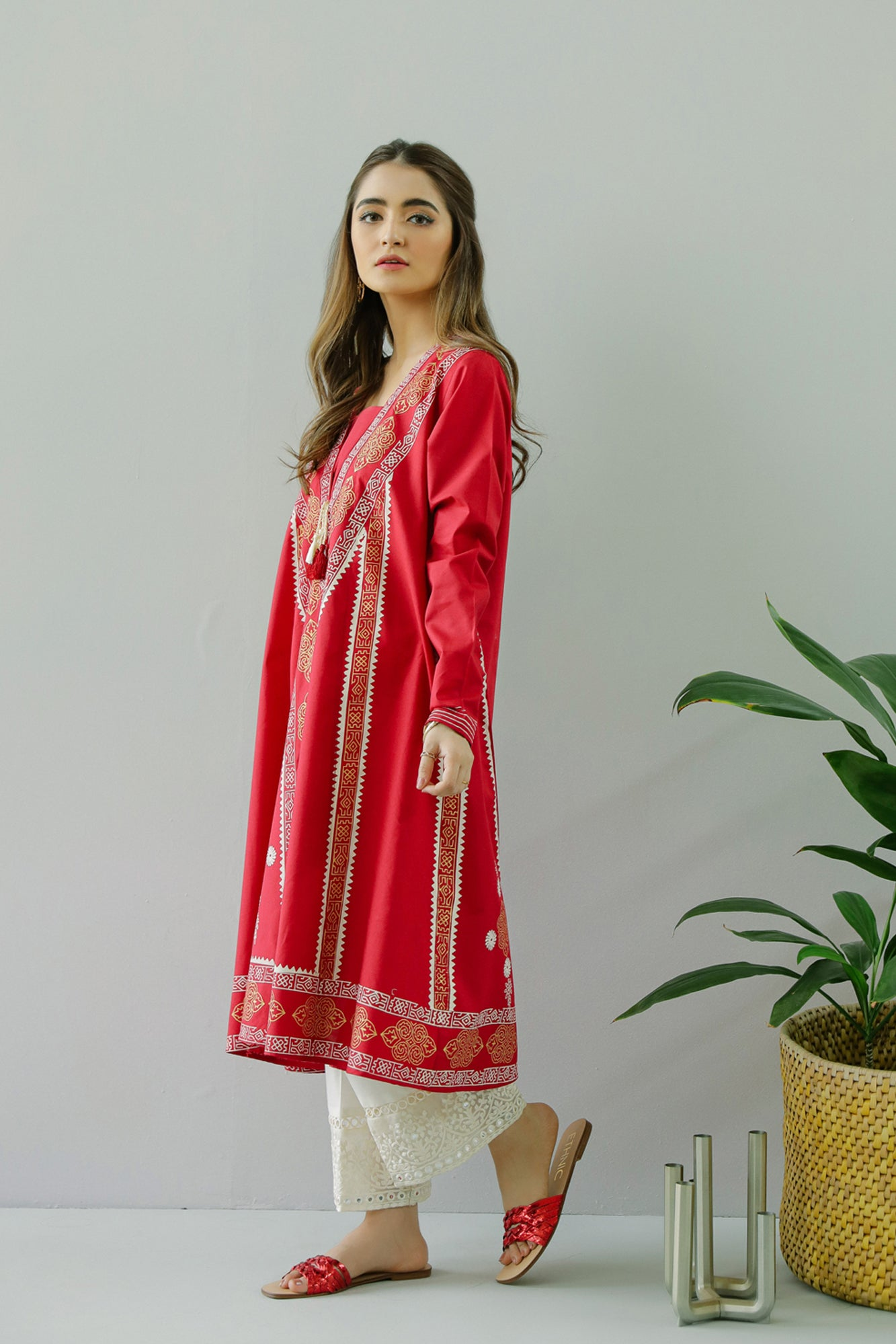 EMBROIDERED SHIRT (WTC111006) - Ethnic by Outfitters