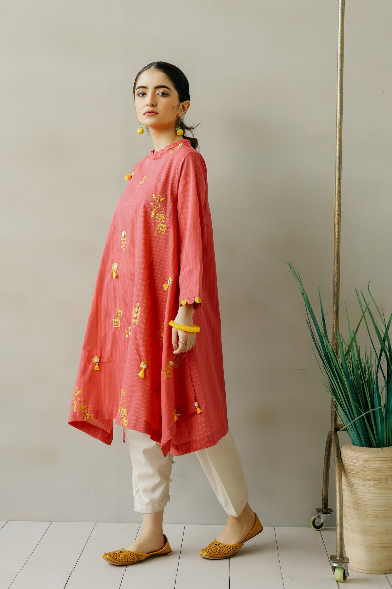 EMBROIDERED SHIRT (WTC111017) - Ethnic by Outfitters