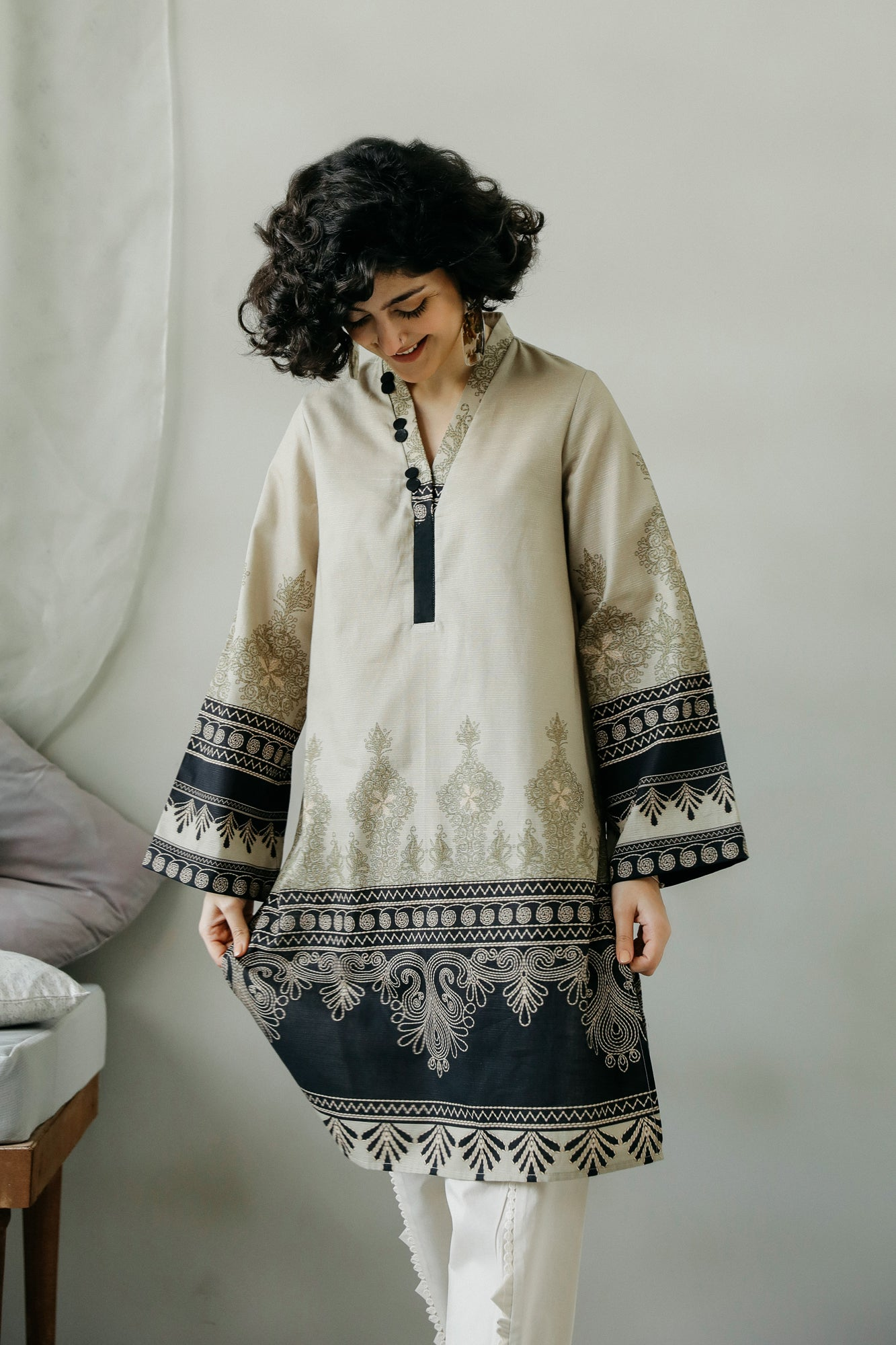 PRINTED SHIRT (WTC111033) - Ethnic by Outfitters