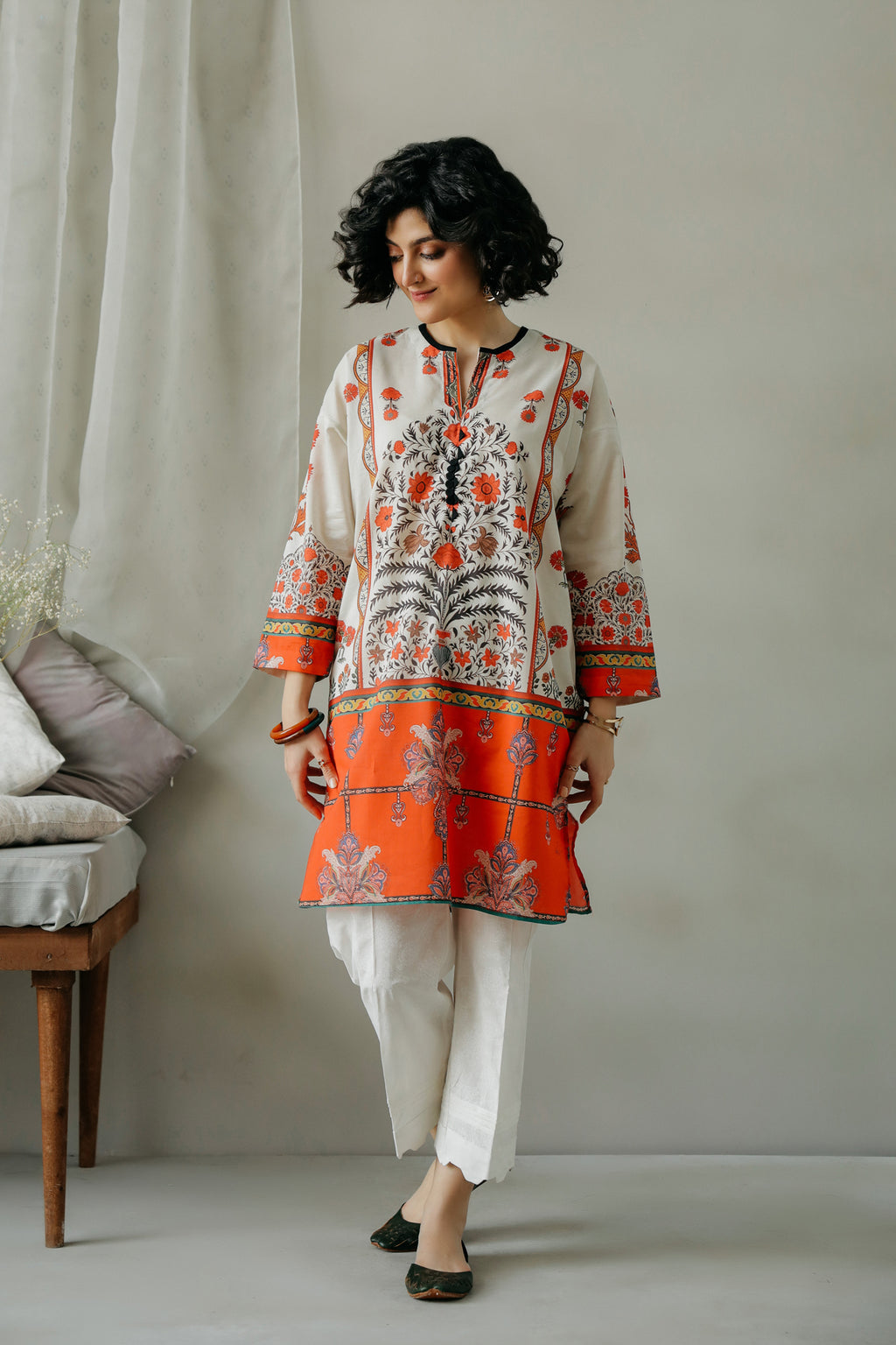 PRINTED SHIRT (WTC111036) - Ethnic by Outfitters
