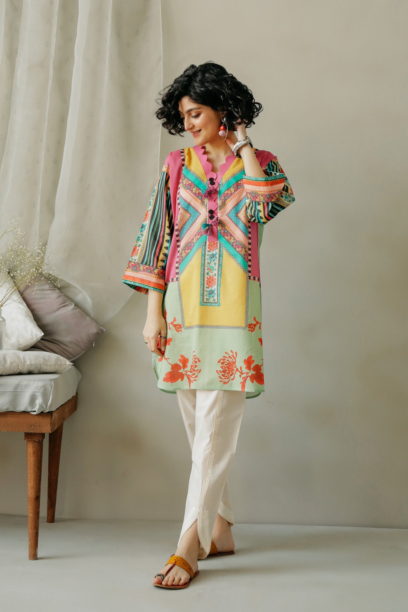 PRINTED SHIRT (WTC111038) - Ethnic by Outfitters