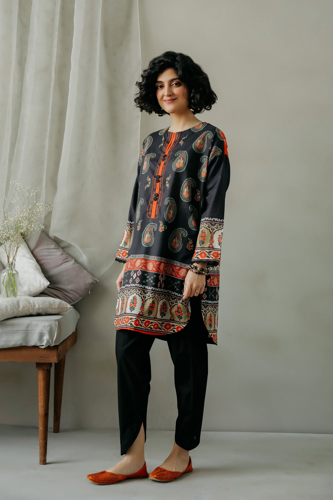 PRINTED SHIRT (WTC111039) - Ethnic by Outfitters