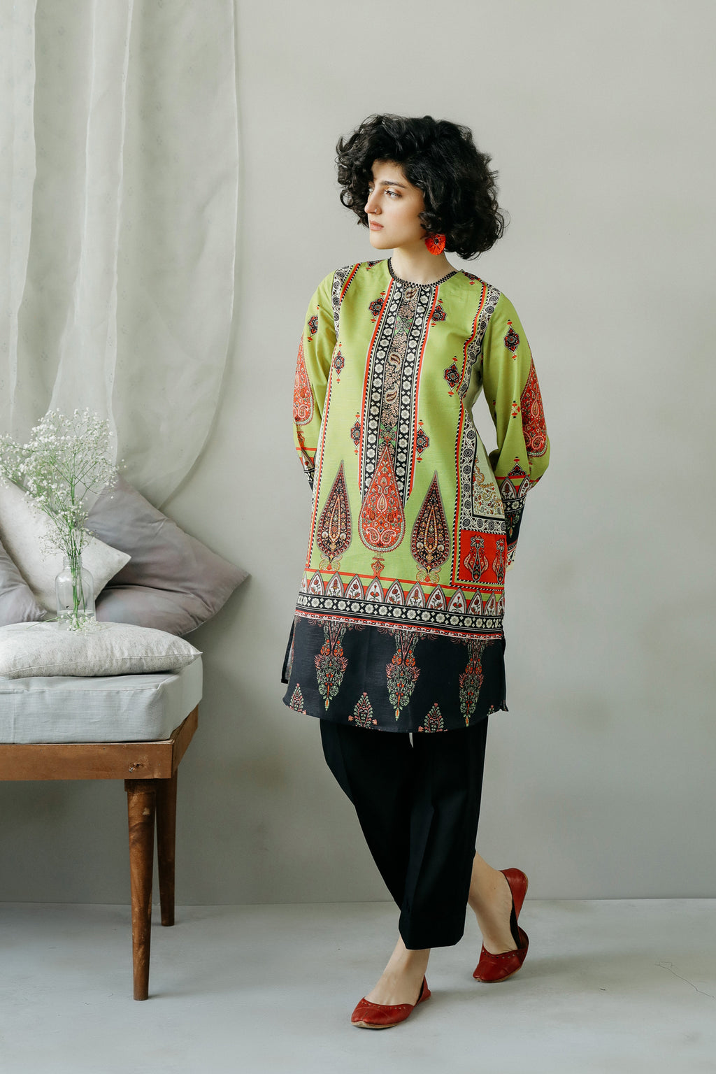 PRINTED SHIRT (WTC111041) - Ethnic by Outfitters