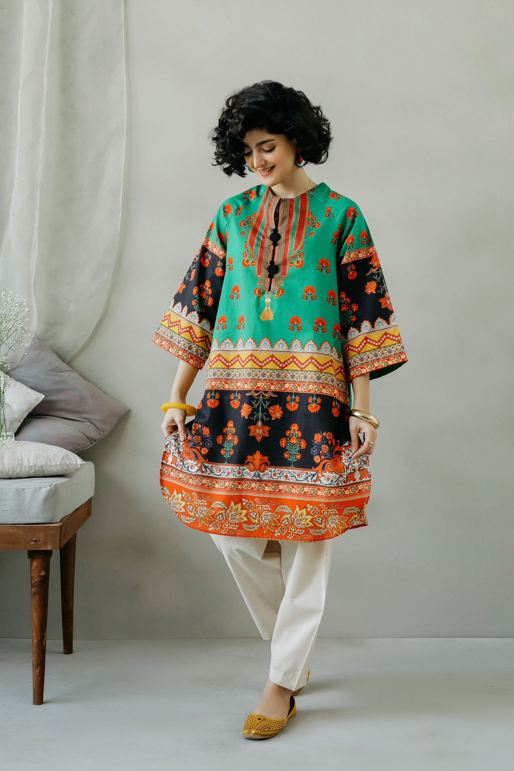PRINTED SHIRT (WTC111044) - Ethnic by Outfitters