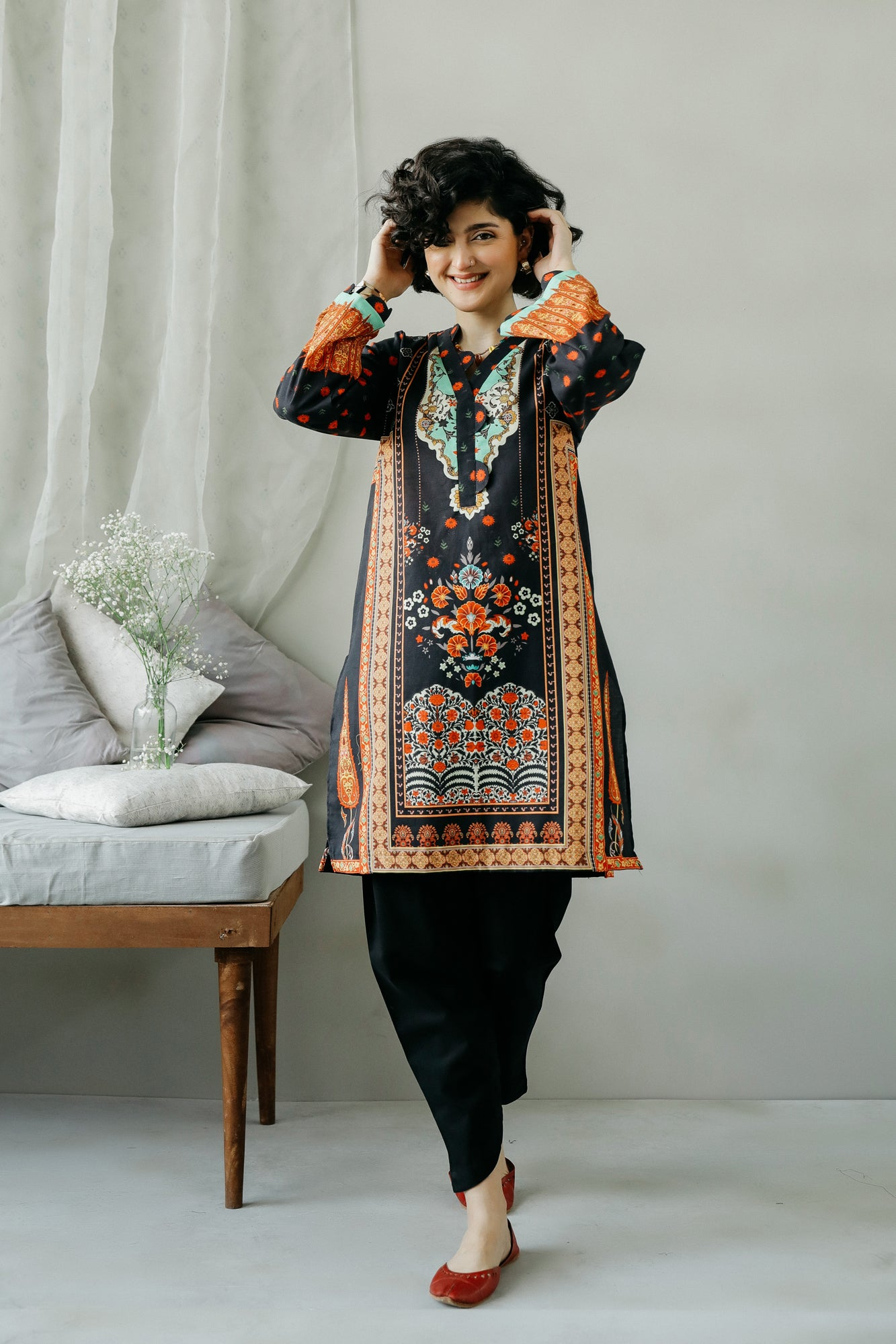PRINTED SHIRT (WTC111045) - Ethnic by Outfitters