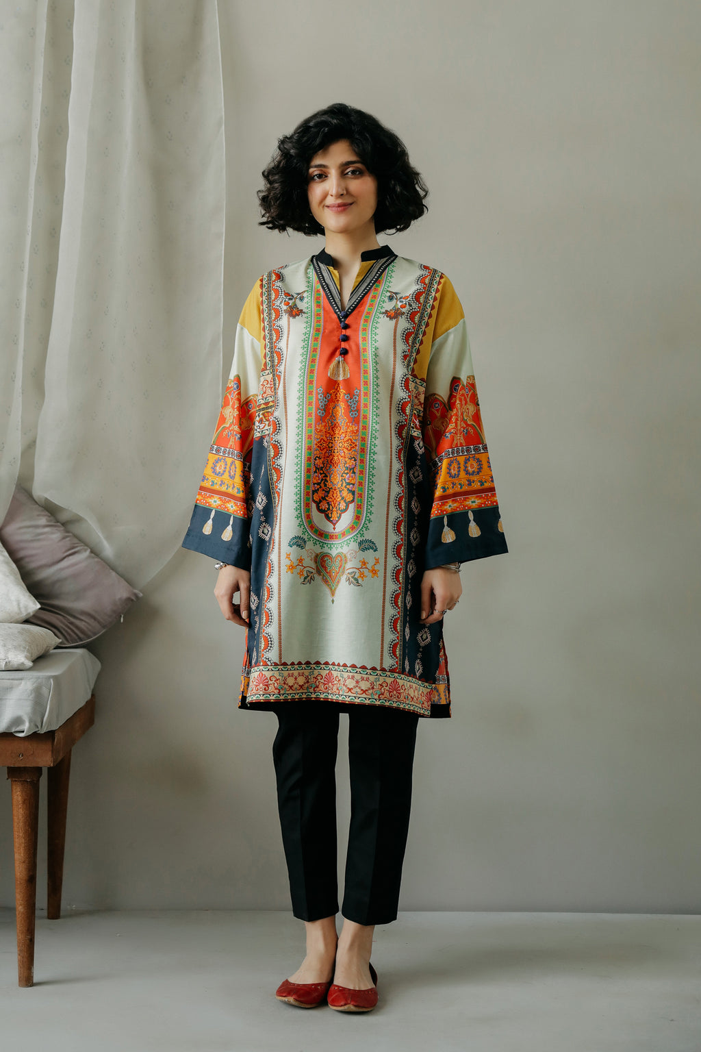 PRINTED SHIRT (WTC111056) - Ethnic by Outfitters