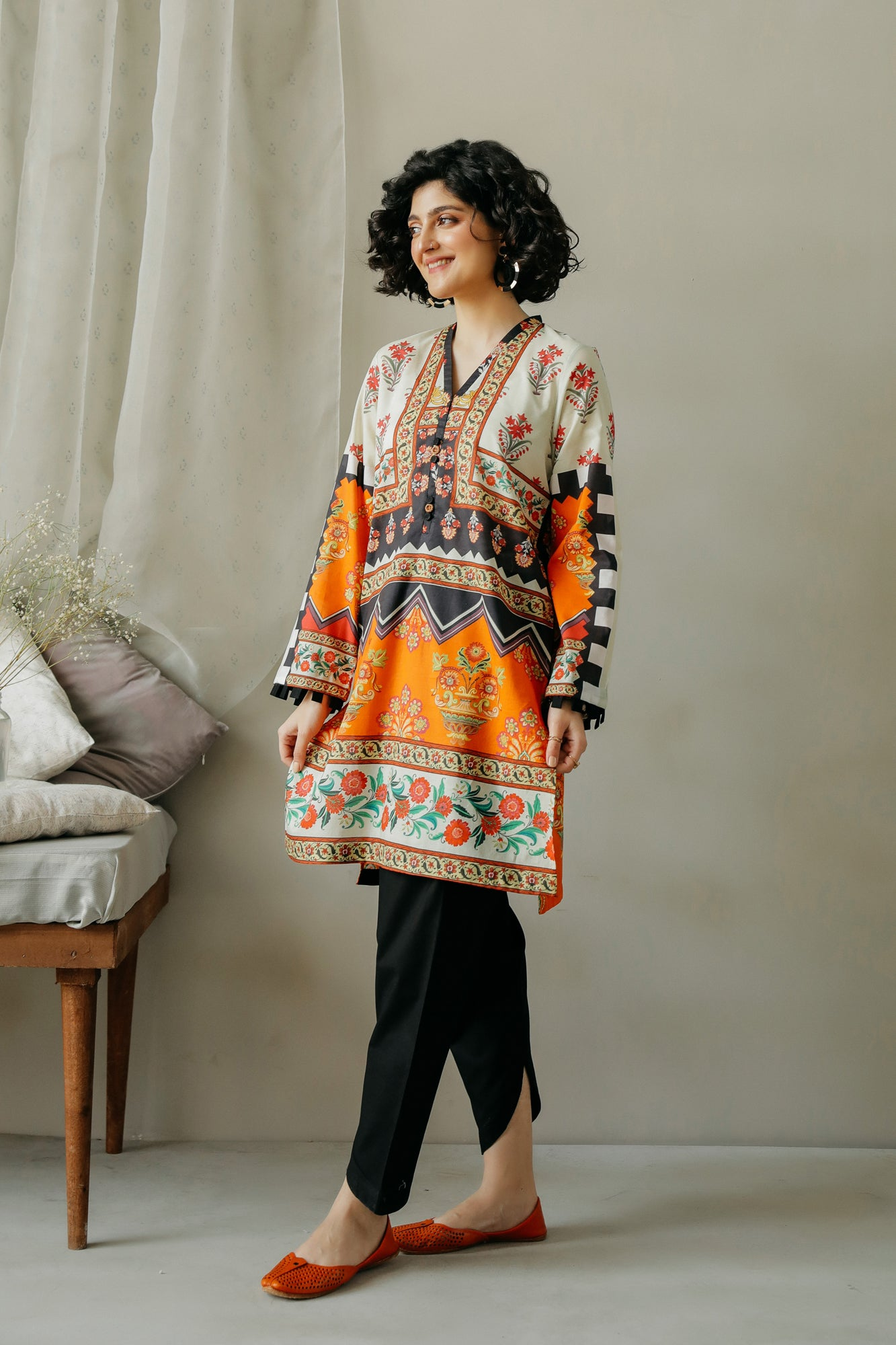 PRINTED SHIRT (WTC111058) - Ethnic by Outfitters