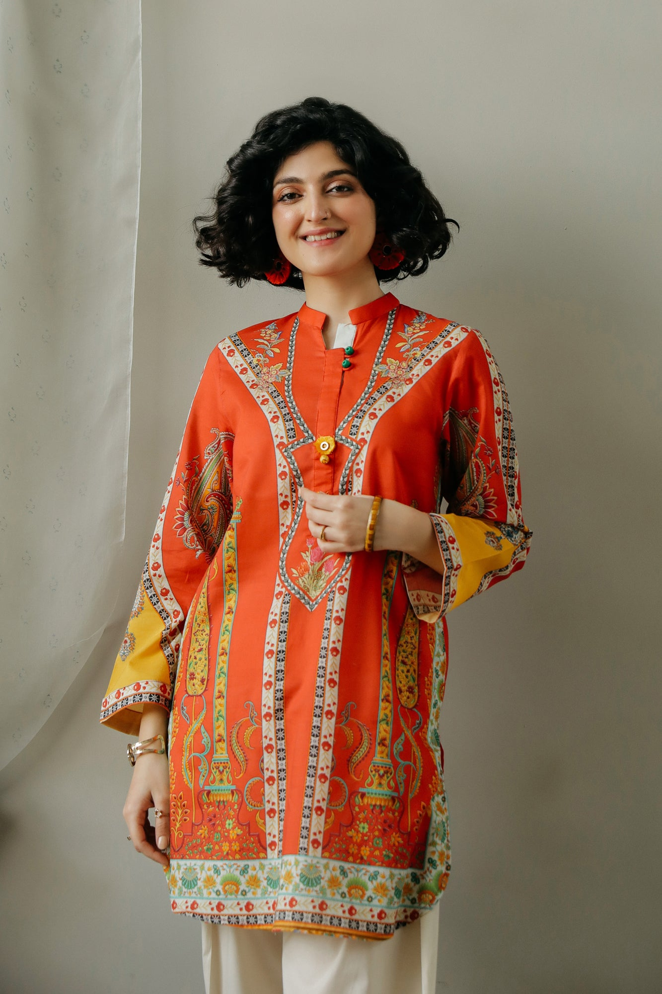 PRINTED SHIRT (WTC111061) - Ethnic by Outfitters