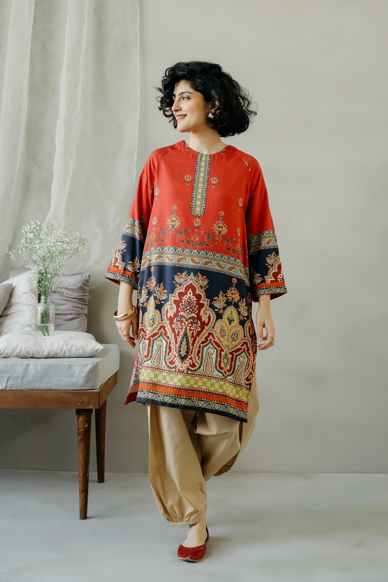 PRINTED SHIRT (WTC111070) - Ethnic by Outfitters