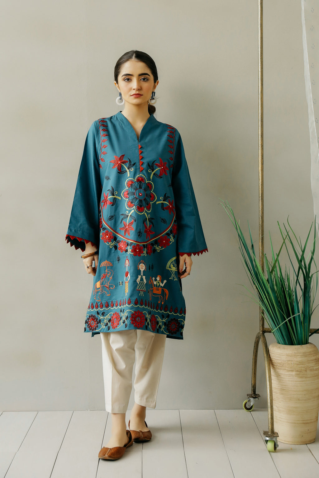 EMBROIDERED SHIRT (WTC111084) - Ethnic by Outfitters