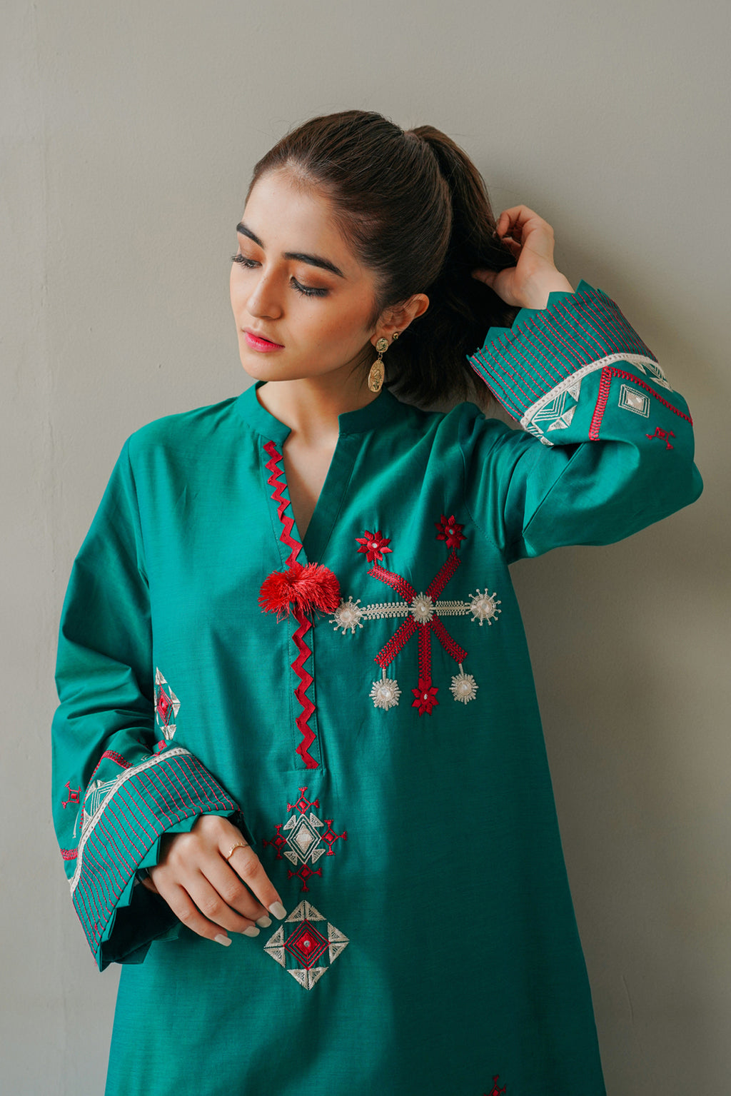 EMBROIDERED SHIRT (WTC111086) - Ethnic by Outfitters