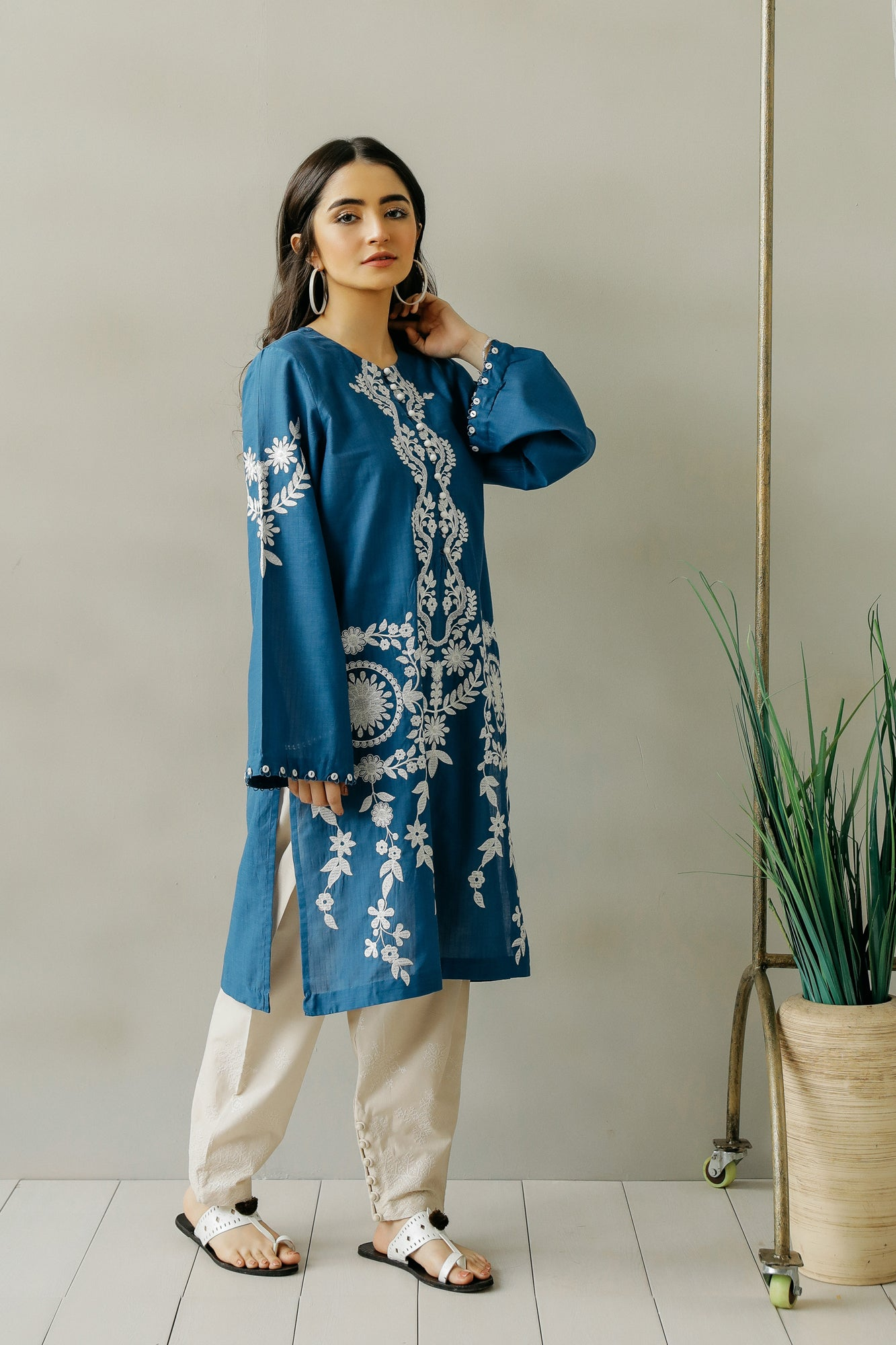 EMBROIDERED SHIRT (WTC111087) - Ethnic by Outfitters