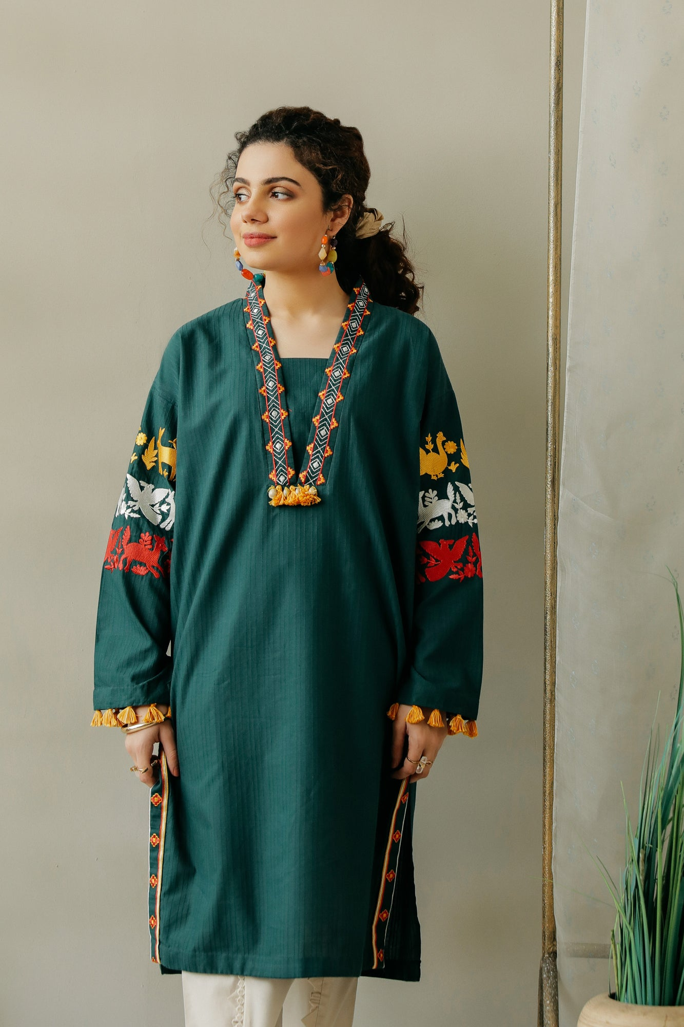 EMBROIDERED SHIRT (WTC111102) - Ethnic by Outfitters