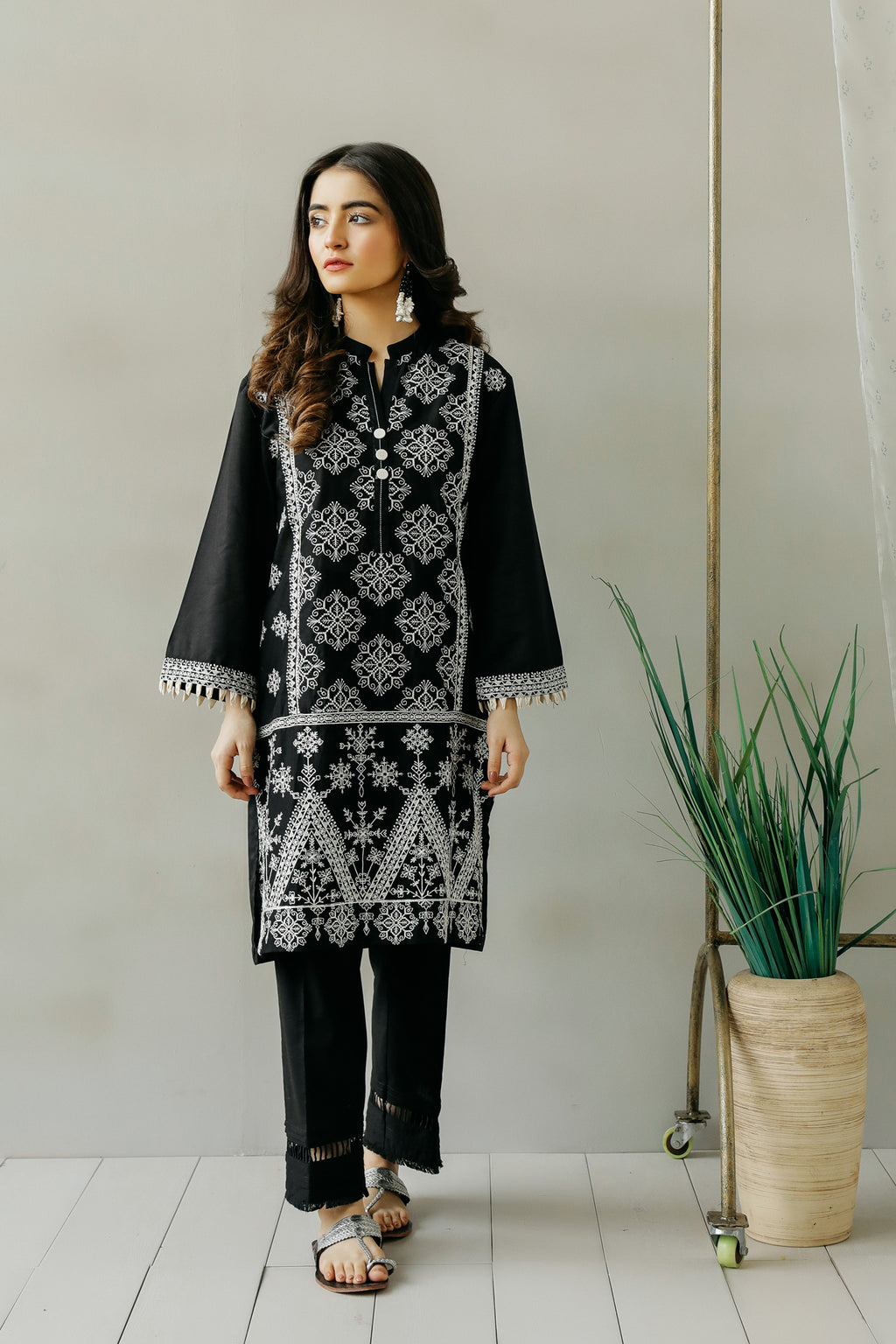 EMBROIDERED SHIRT (WTC111107) - Ethnic by Outfitters