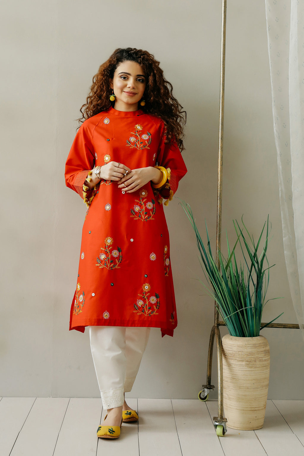 EMBROIDERED SHIRT (WTC111124) - Ethnic by Outfitters