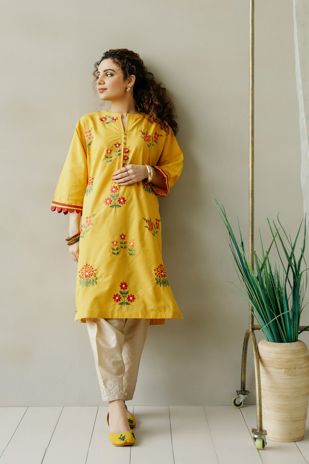 EMBROIDERED SHIRT (WTC111129) - Ethnic by Outfitters