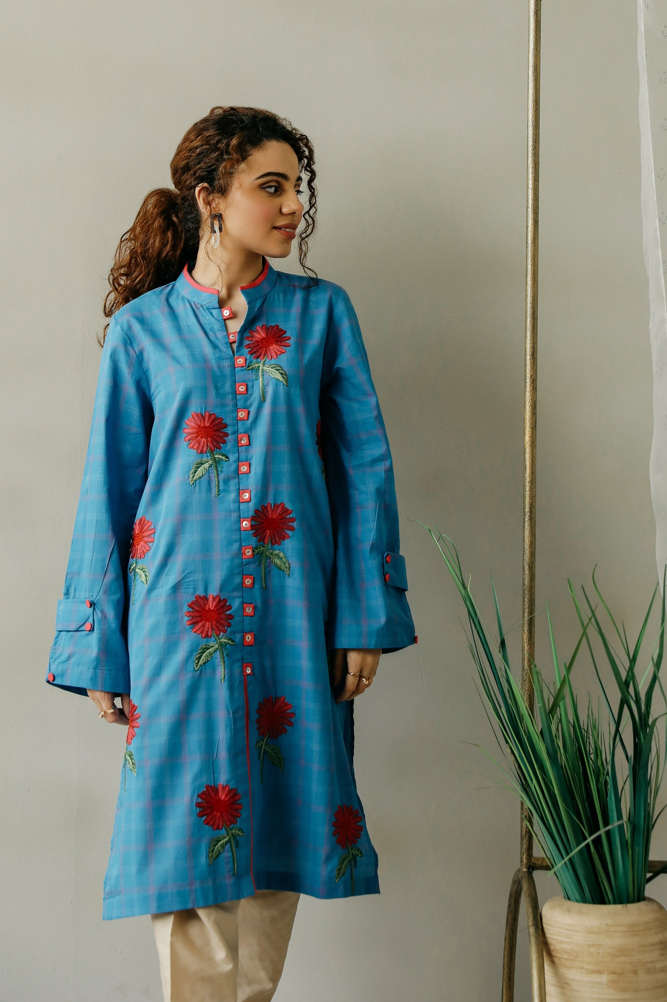 EMBROIDERED SHIRT (WTC111131) - Ethnic by Outfitters