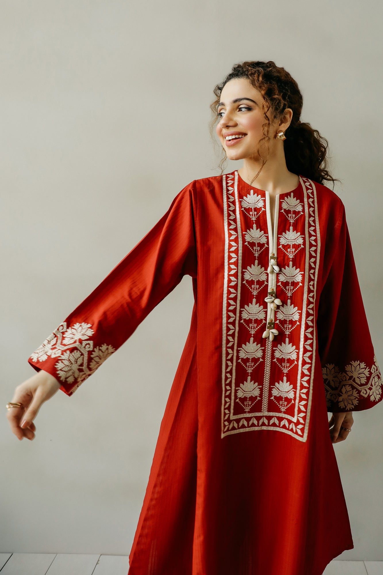 EMBROIDERED SHIRT (WTC111132) - Ethnic by Outfitters