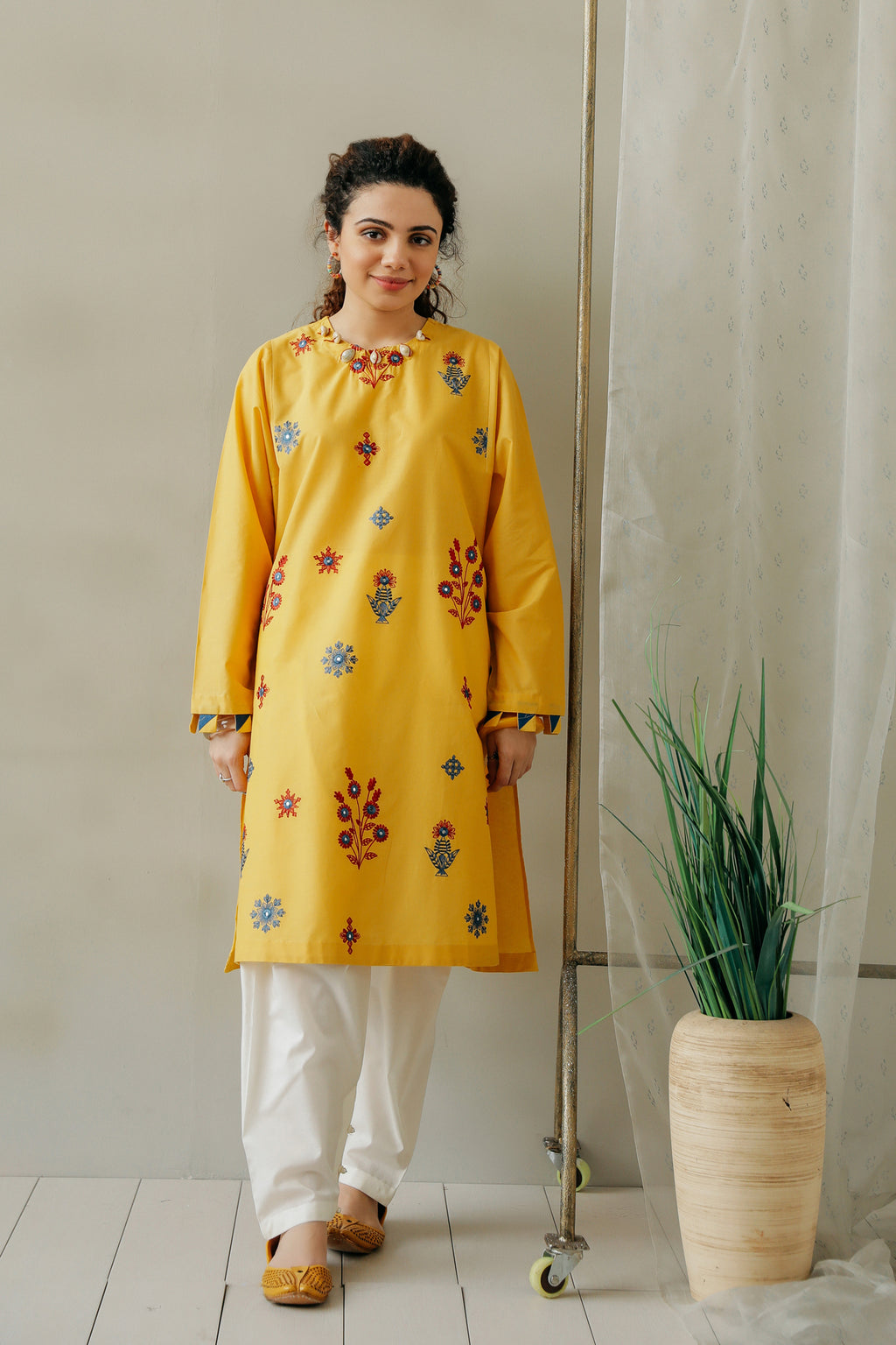 EMBROIDERED SHIRT (WTC111141) - Ethnic by Outfitters
