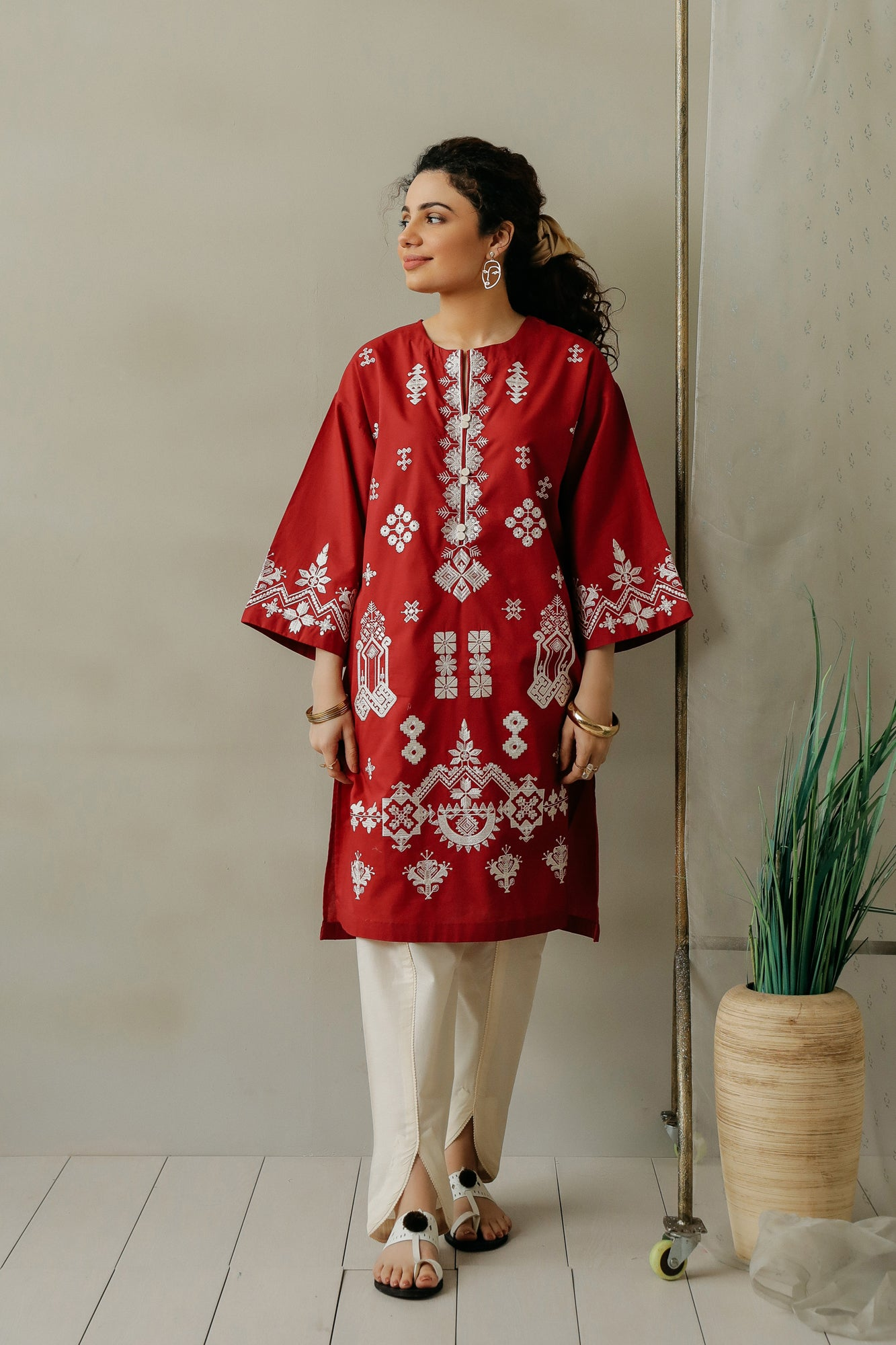 EMBROIDERED SHIRT (WTC111142) - Ethnic by Outfitters