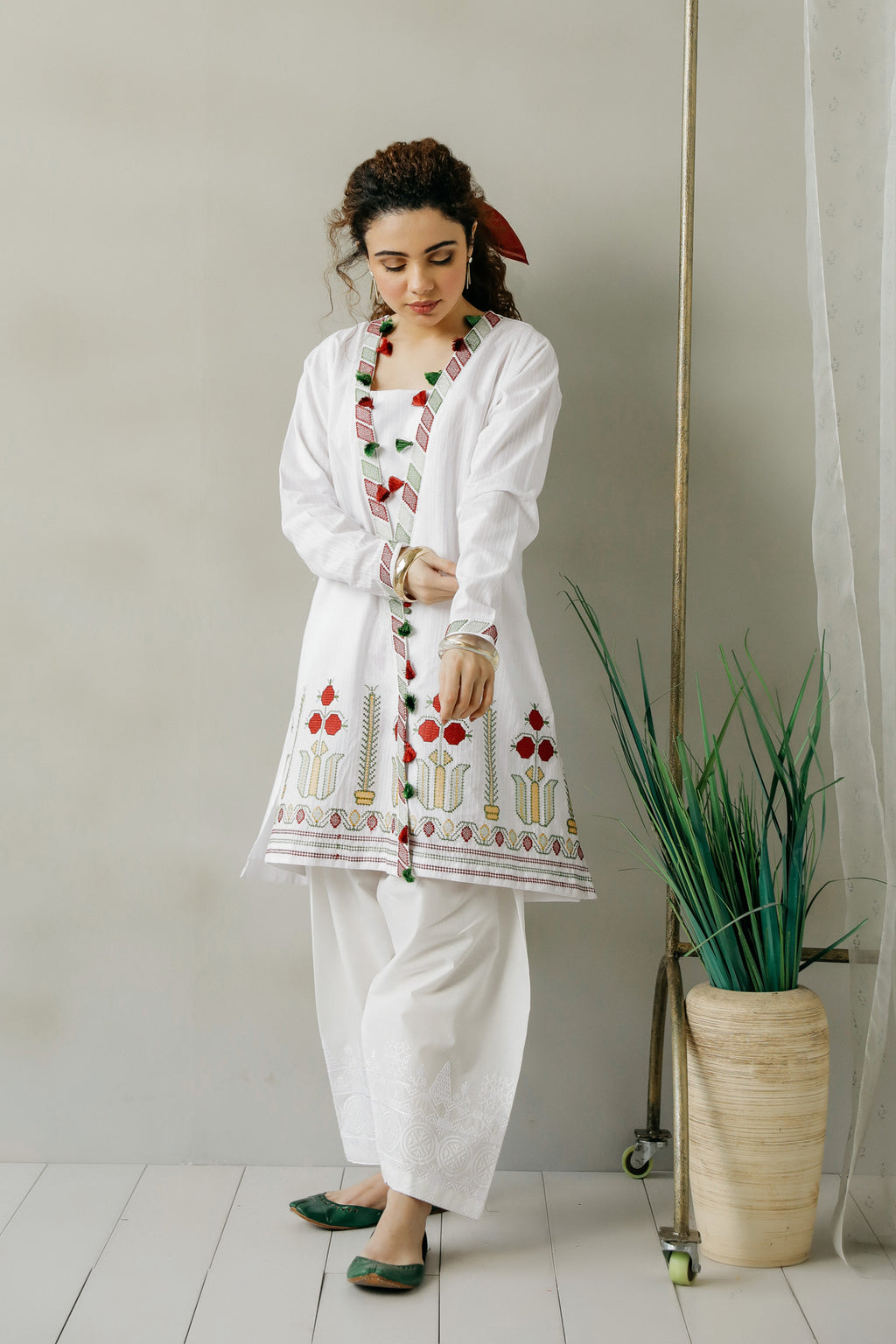 EMBROIDERED SHIRT (WTC111152) - Ethnic by Outfitters