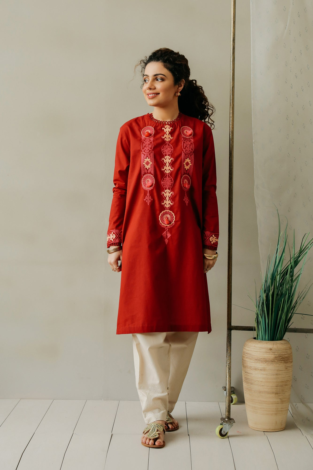 EMBROIDERED SHIRT (WTC111154) - Ethnic by Outfitters