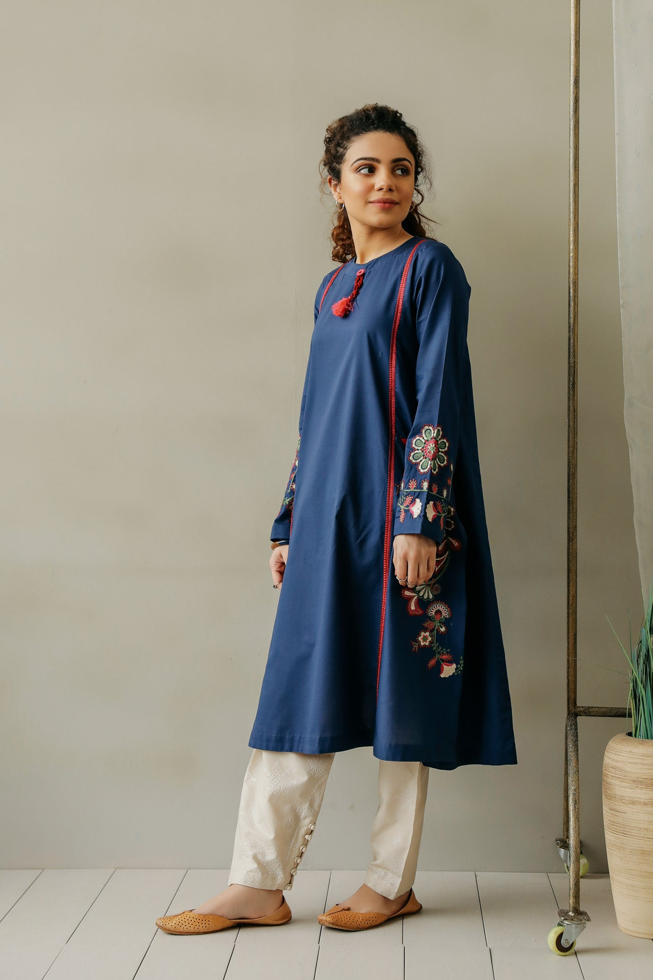 EMBROIDERED SHIRT (WTC111155) - Ethnic by Outfitters