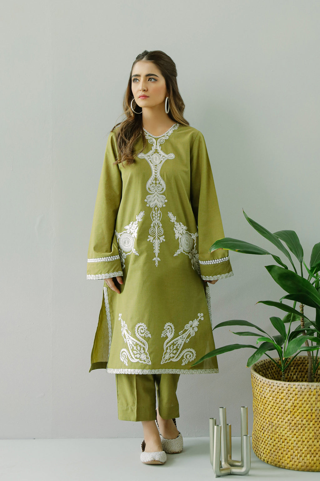 EMBROIDERED SUIT (WTC111179) - Ethnic by Outfitters