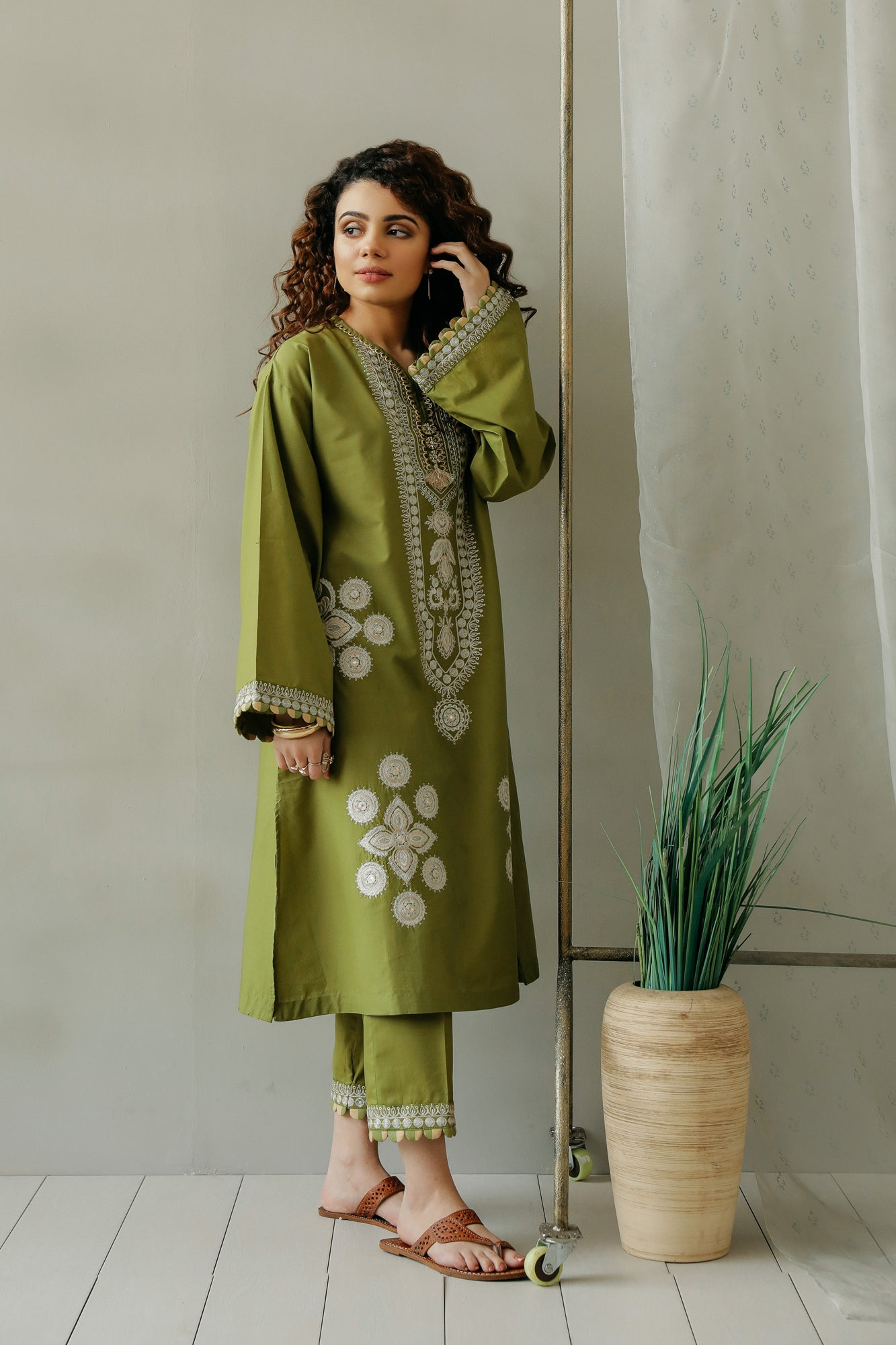 EMBROIDERED SUIT (WTC111186) - Ethnic by Outfitters