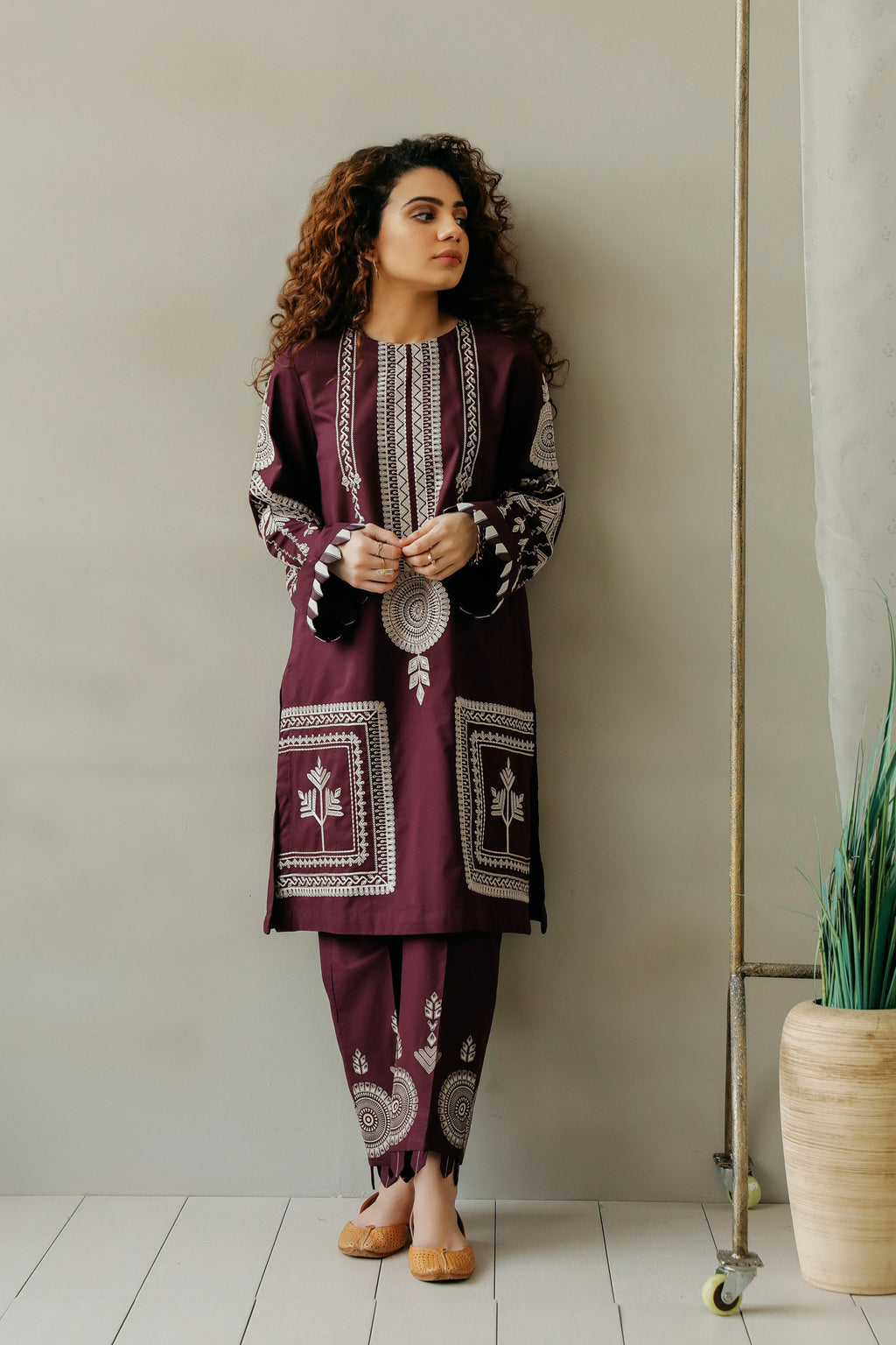EMBROIDERED SUIT (WTC111187) - Ethnic by Outfitters