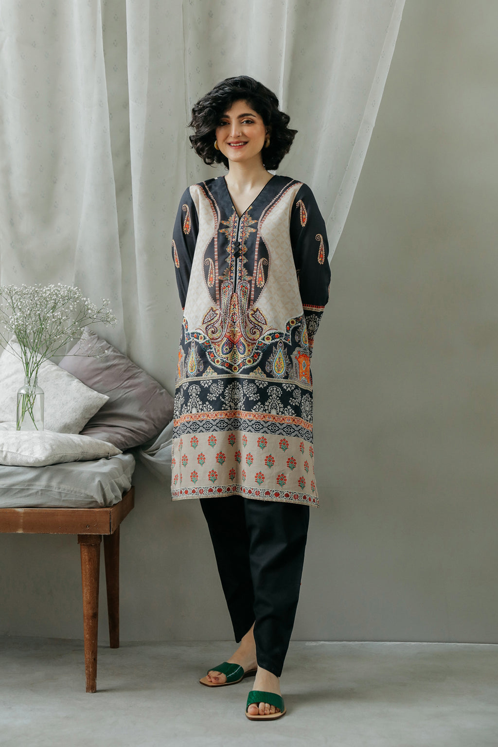 PRINTED SHIRT (WTC111906) - Ethnic by Outfitters