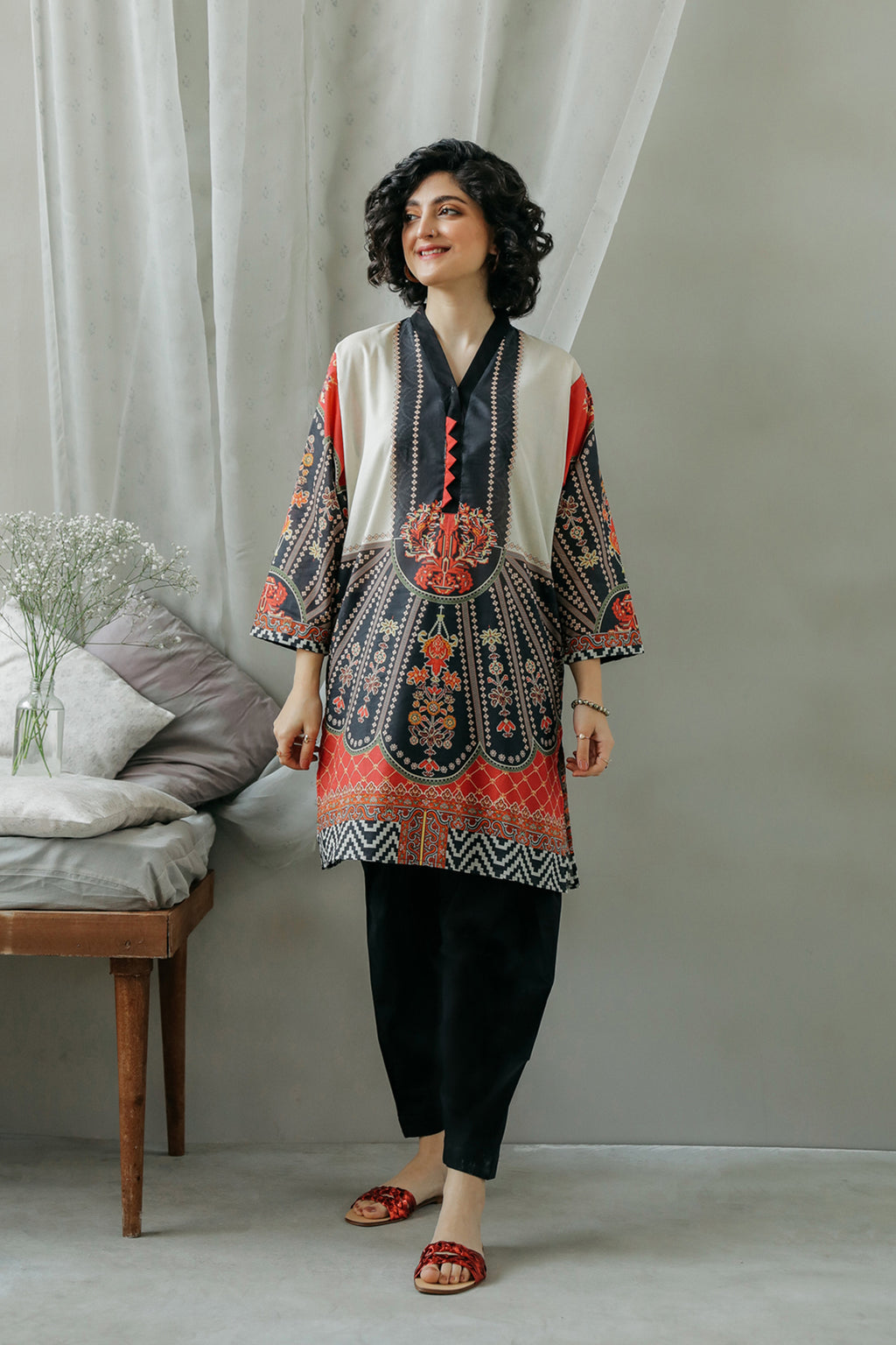 PRINTED SHIRT (WTC111907) - Ethnic by Outfitters