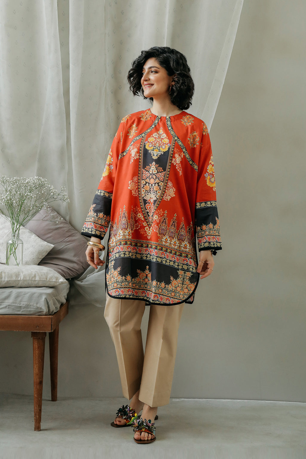 PRINTED SHIRT (WTC111911) - Ethnic by Outfitters