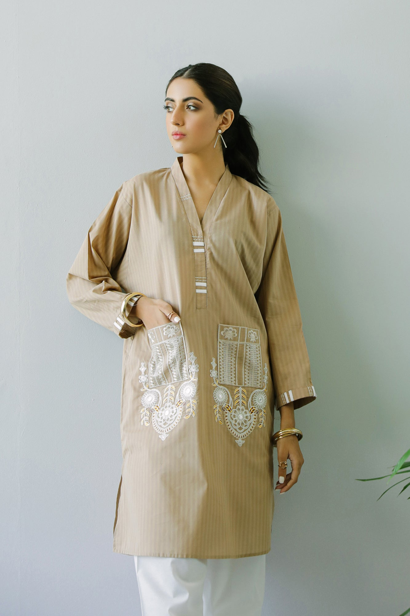 EMBROIDERED SHIRT (WTC211036) - Ethnic by Outfitters