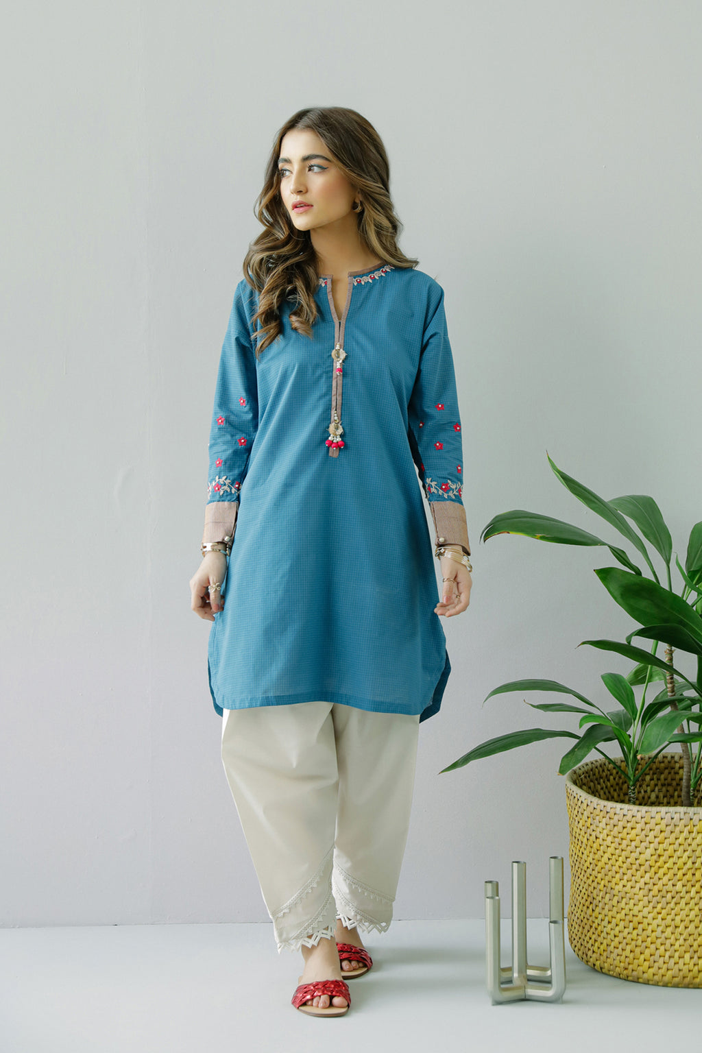 EMBROIDERED SHIRT (WTC211038) - Ethnic by Outfitters