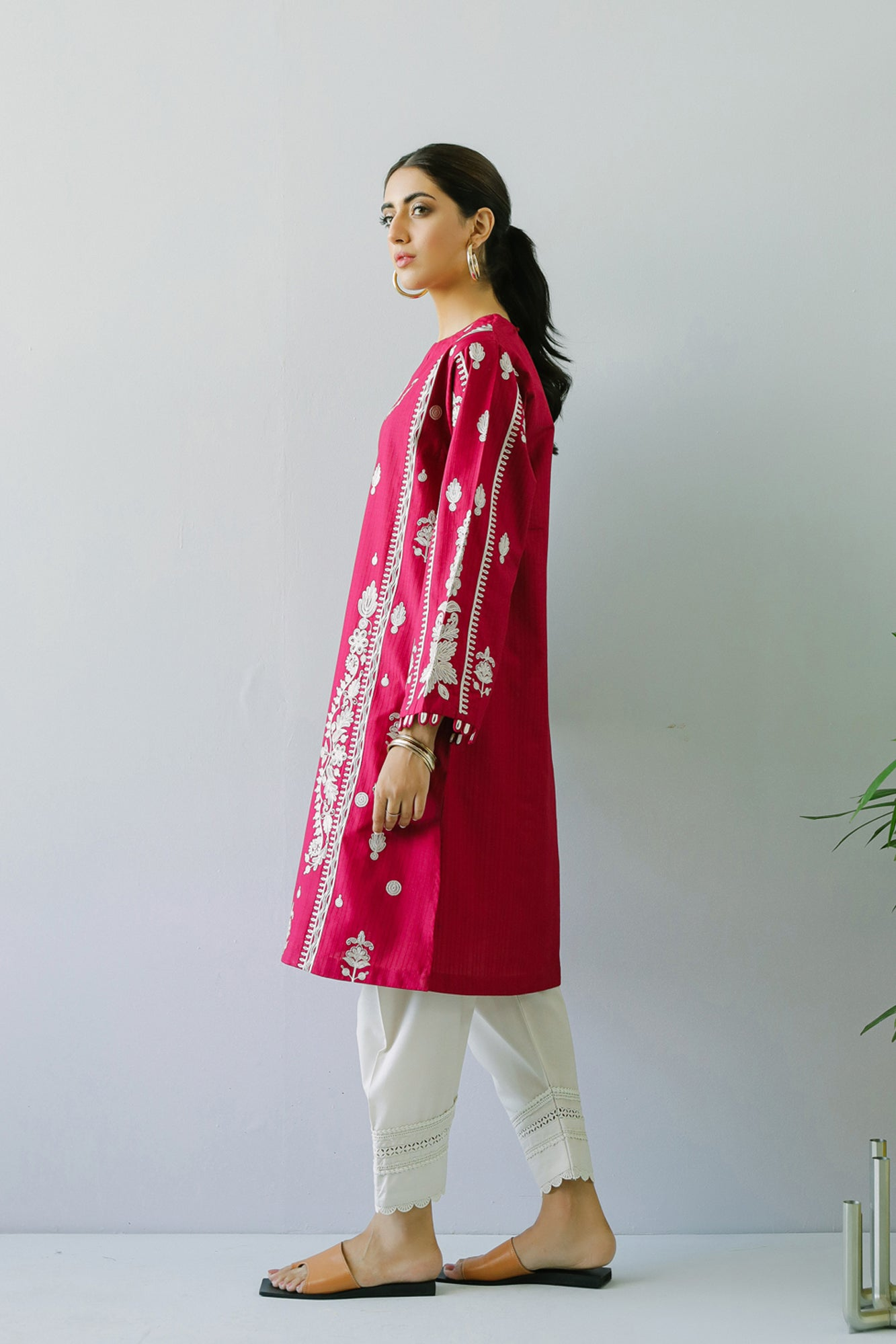 EMBROIDERED SHIRT (WTC211084) - Ethnic by Outfitters