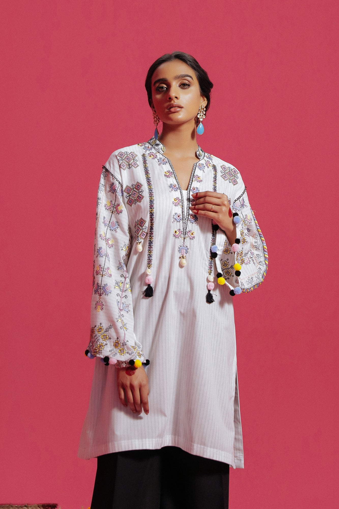 EMBROIDERED SHIRT (WTC211133) - Ethnic by Outfitters