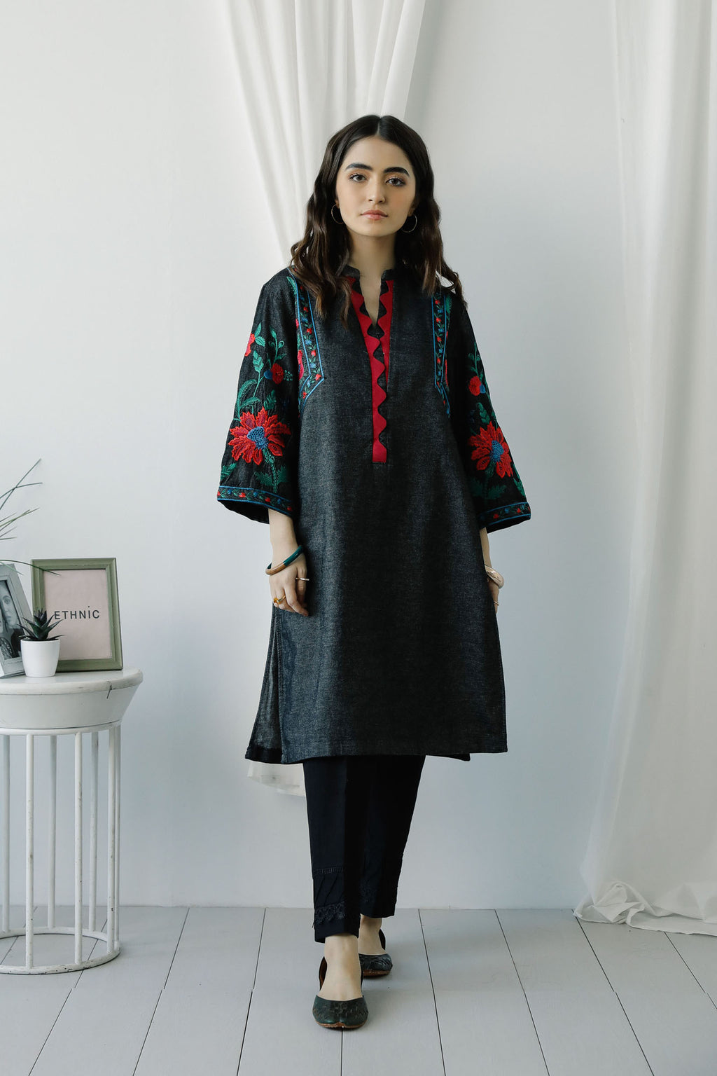 EMBROIDERED SHIRT (WTC401019) - Ethnic by Outfitters