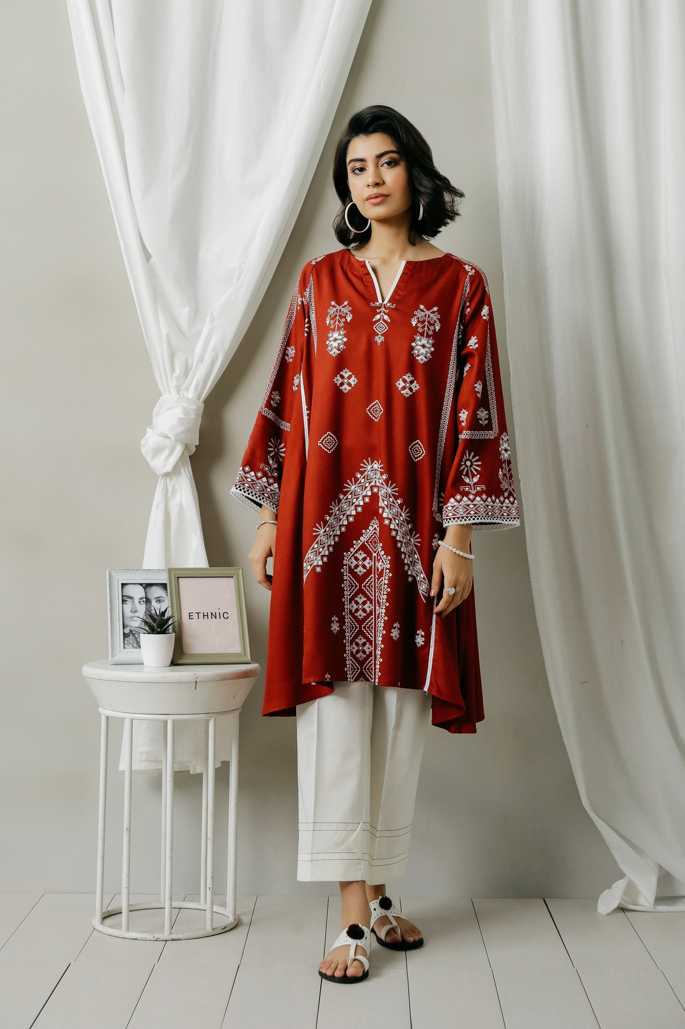 PRINTED SHIRT (WTC401023) - Ethnic by Outfitters