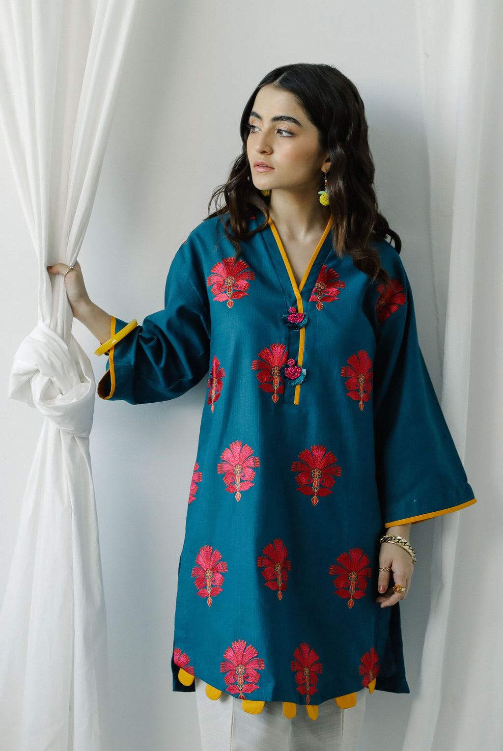 EMBROIDERED SHIRT (WTC401107) - Ethnic by Outfitters