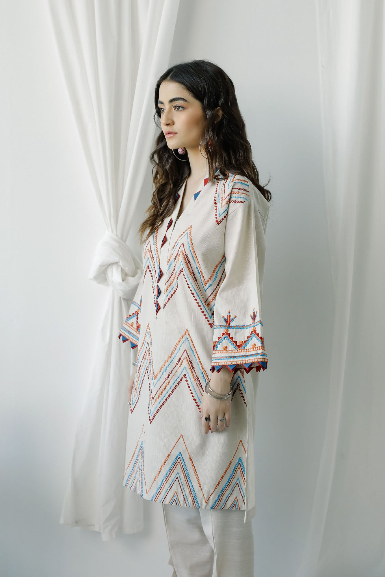 EMBROIDERED SHIRT (WTC401143) - Ethnic by Outfitters