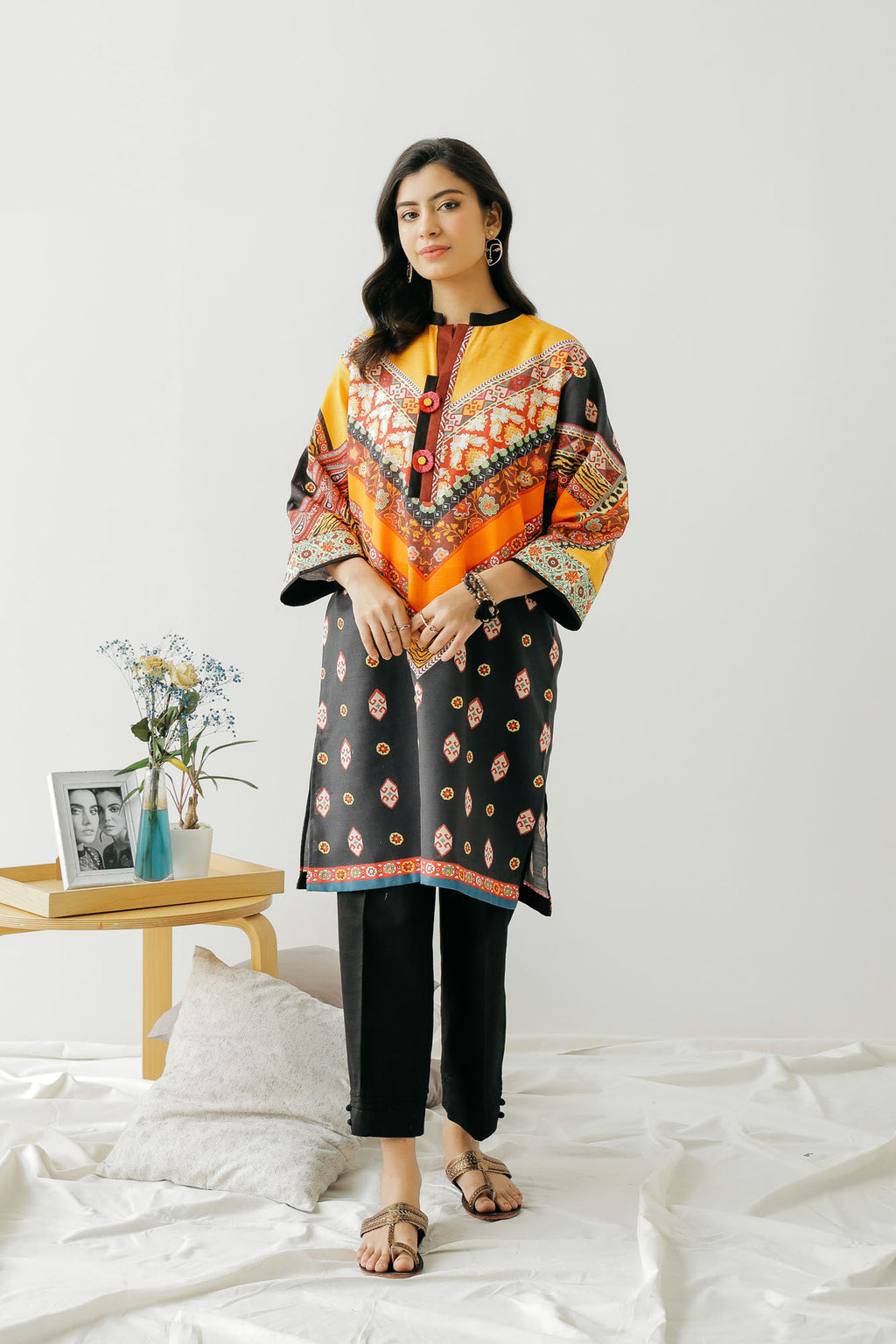PRINTED SHIRT (WTC401264) - Ethnic by Outfitters