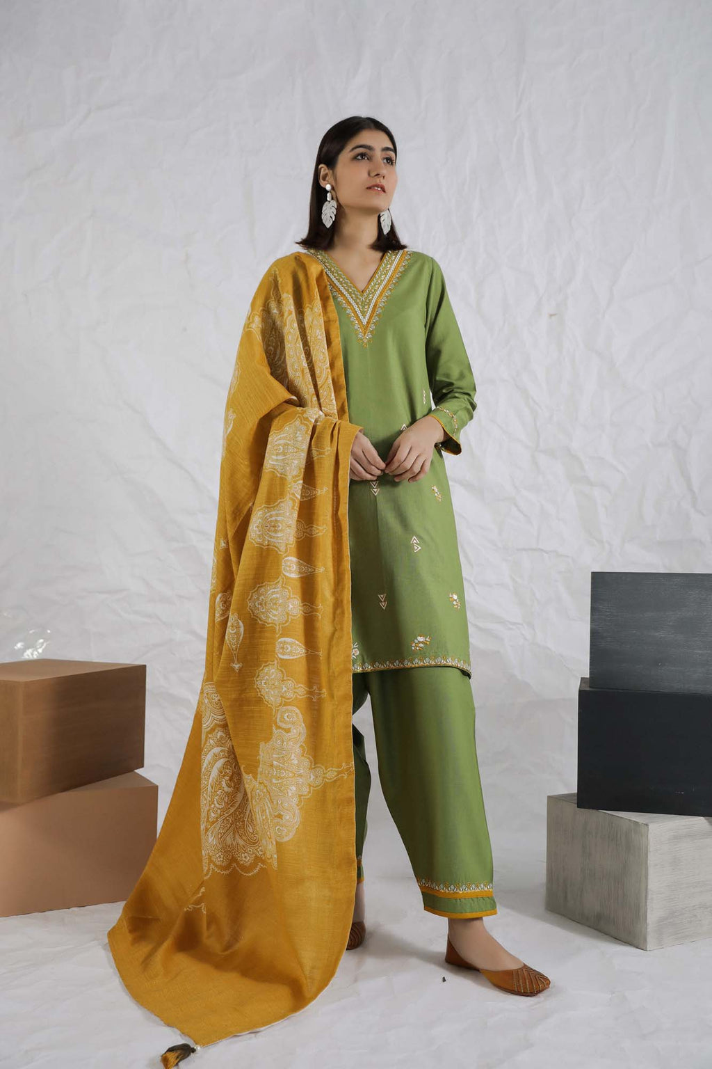 Casual Suits (Shirt + Trouser + Dupatta)
