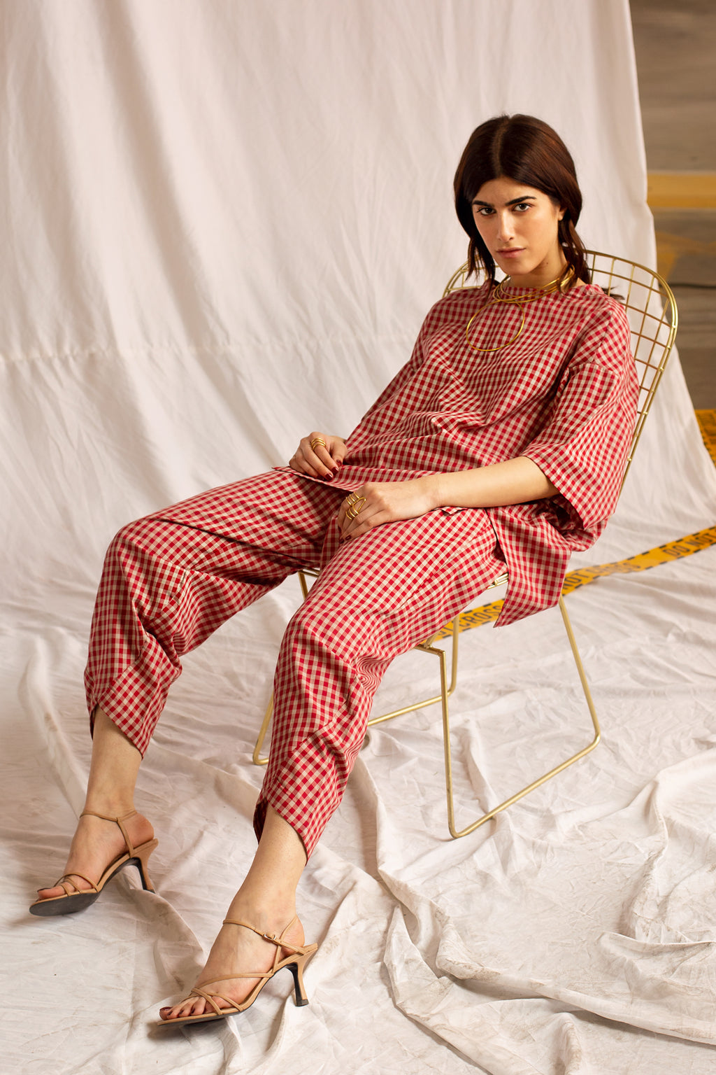 CHECKERED SUIT (WTD111800) - Ethnic by Outfitters
