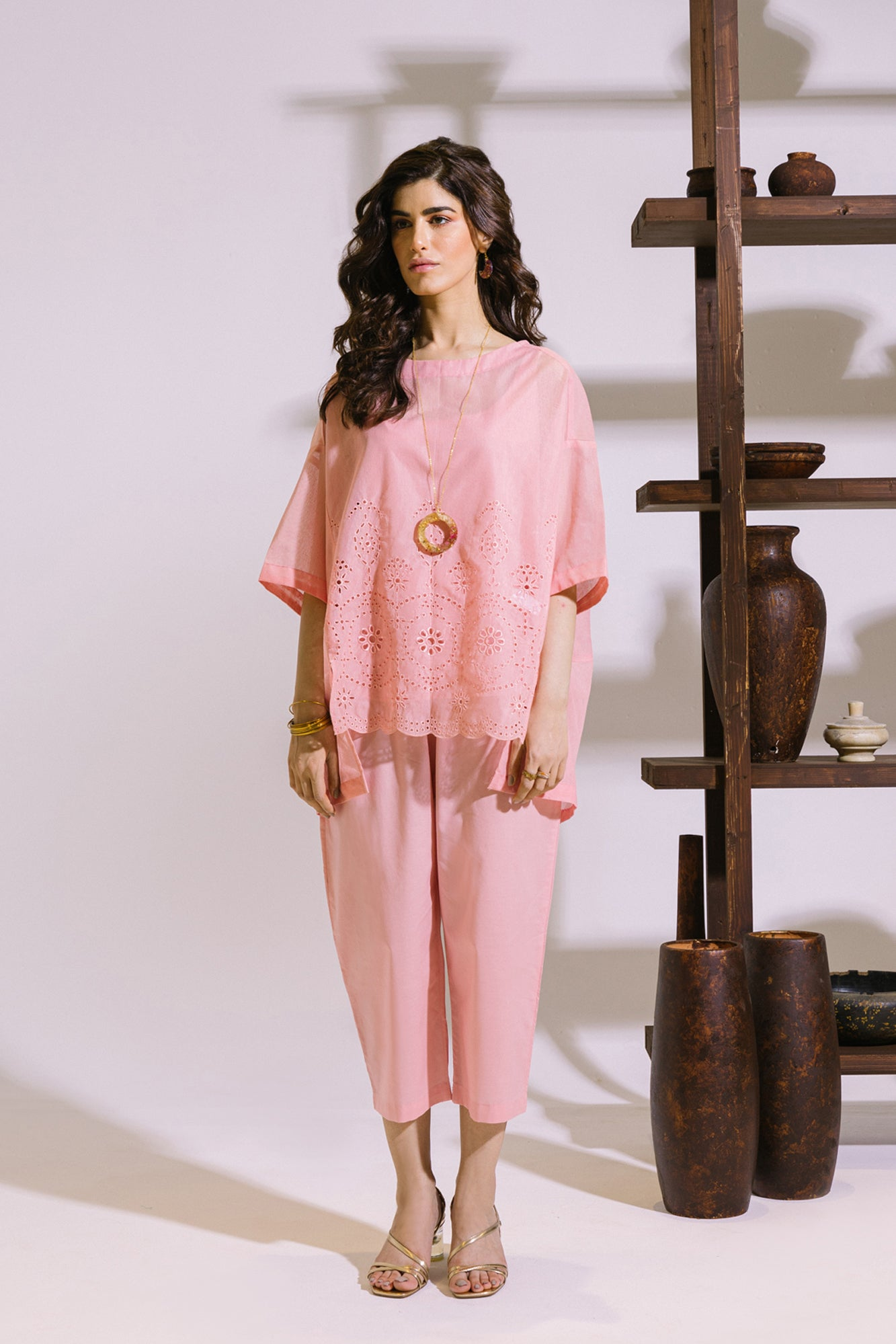 EMBROIDERED SUIT (WTD211238) - Ethnic by Outfitters
