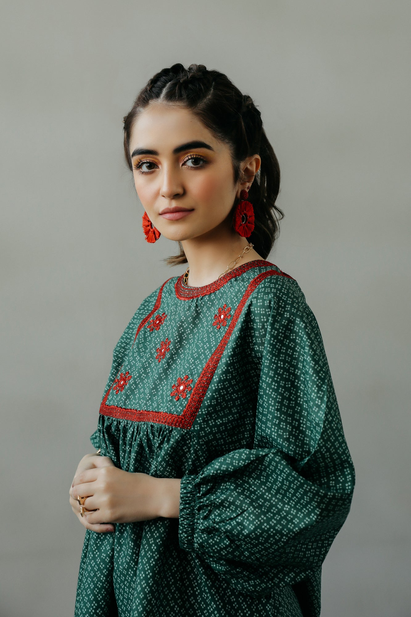 EMBROIDERED TOP (WTF111542) - Ethnic by Outfitters