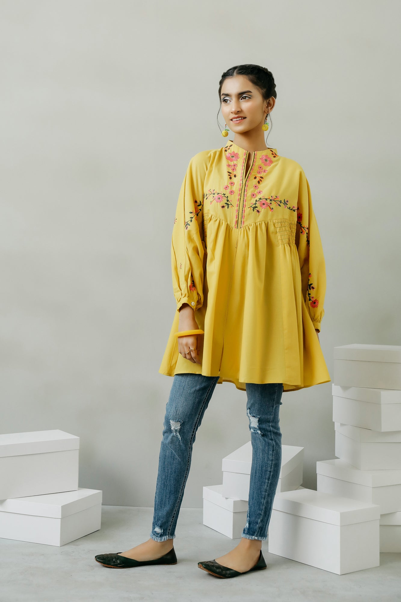 EMBROIDERED TOP (WTF111559) - Ethnic by Outfitters