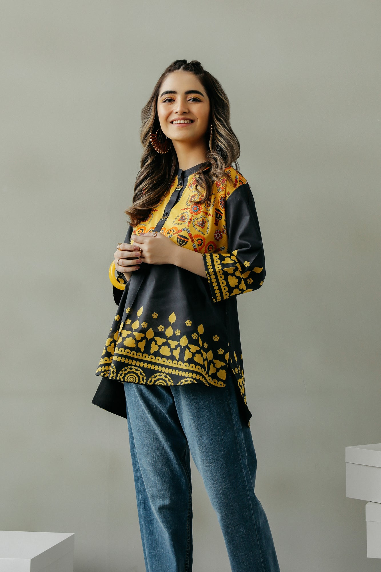 PRINTED TOP (WTF111573) - Ethnic by Outfitters