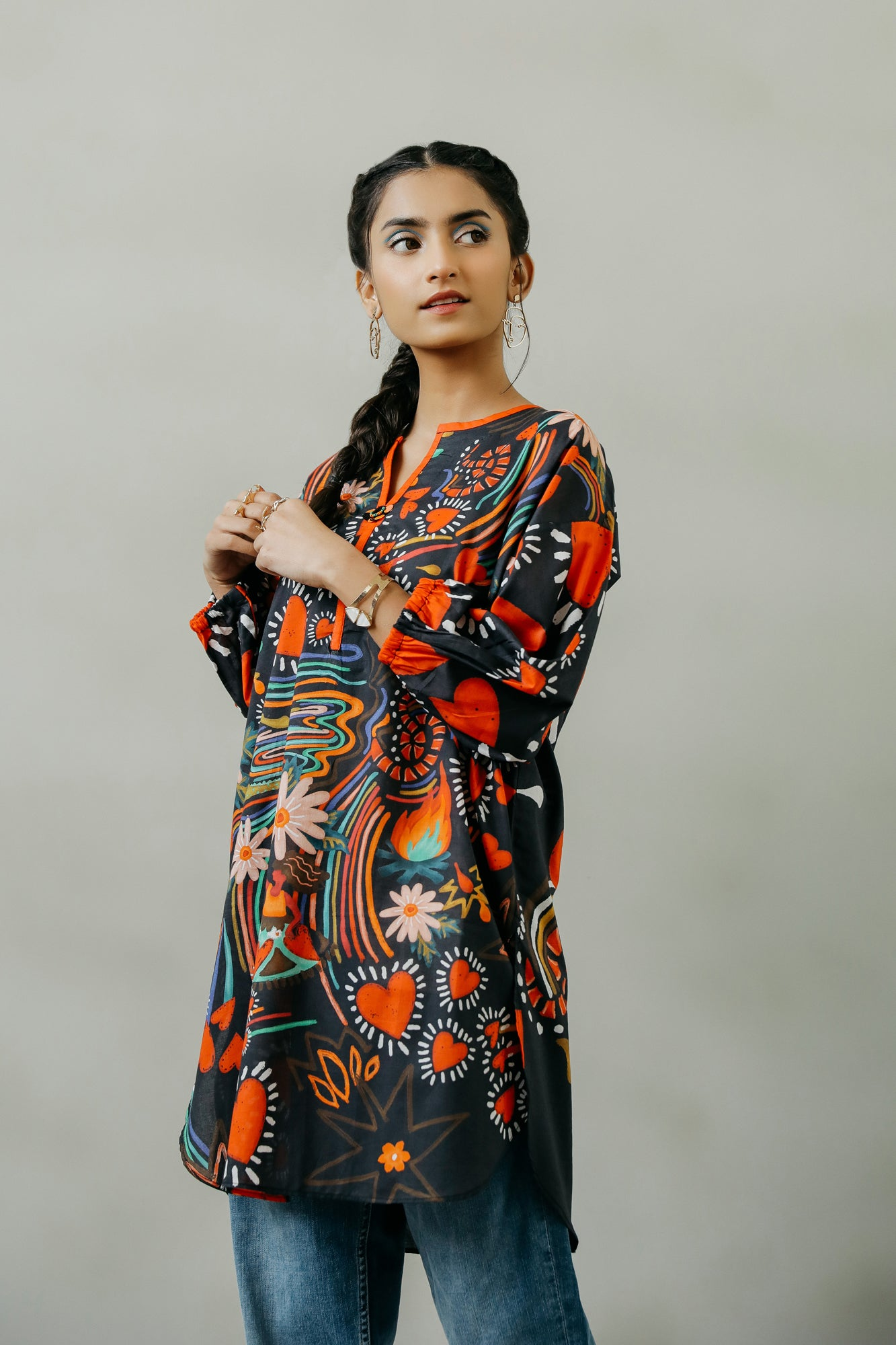 PRINTED KURTI (WTF111597) - Ethnic by Outfitters