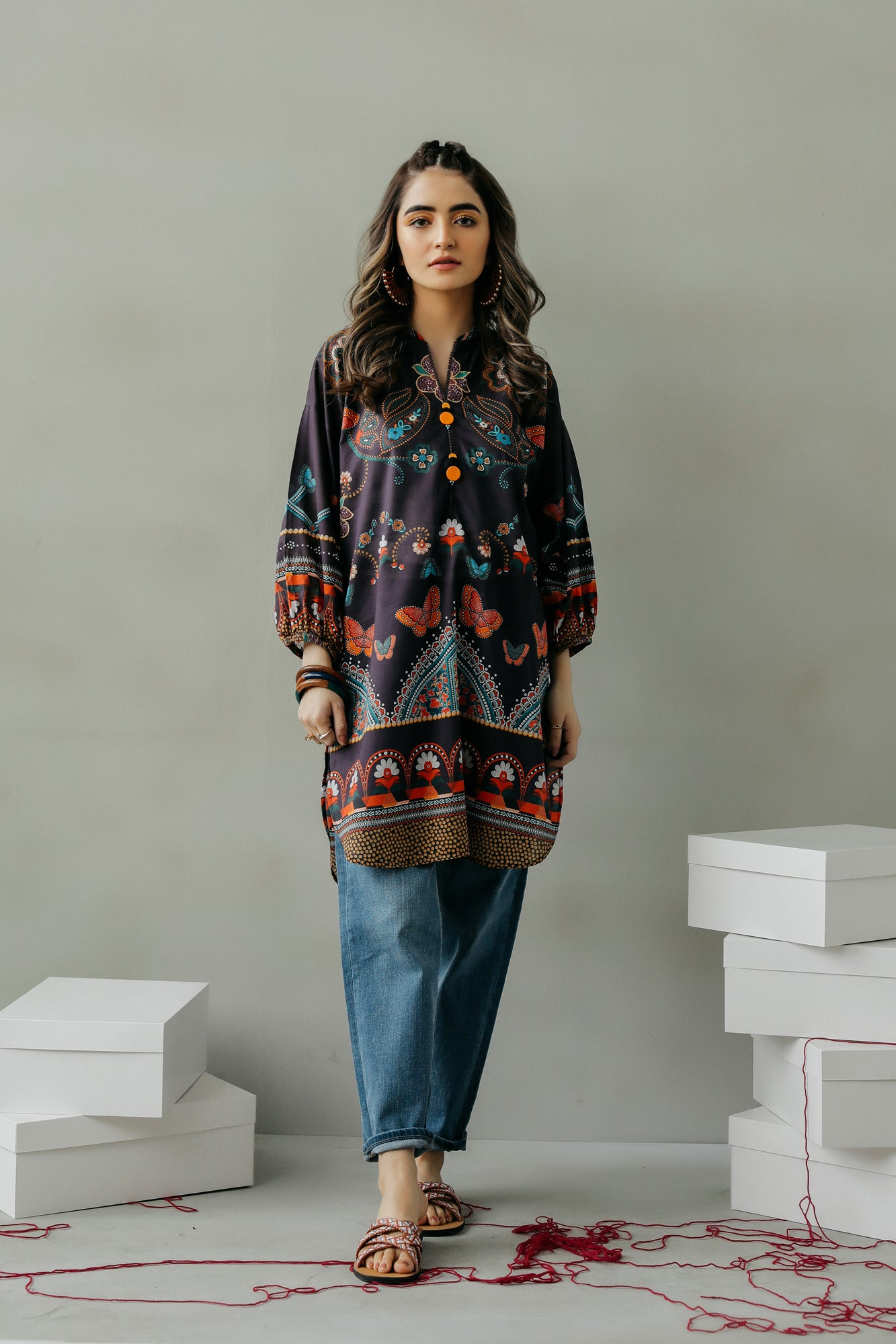 PRINTED KURTI (WTF111615) - Ethnic by Outfitters